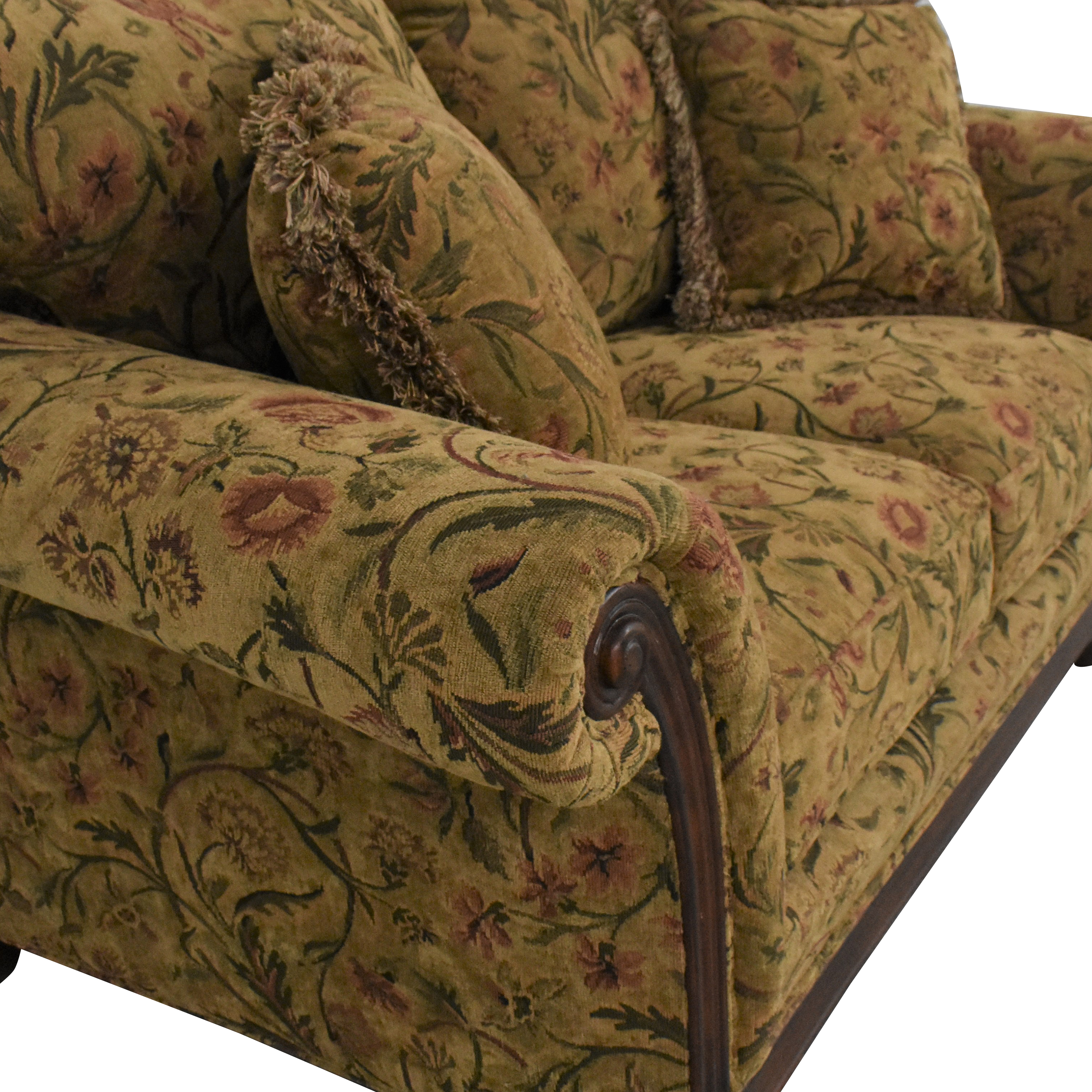 Clayton Marcus Clayton Marcus Floral Roll Arm Loveseat price