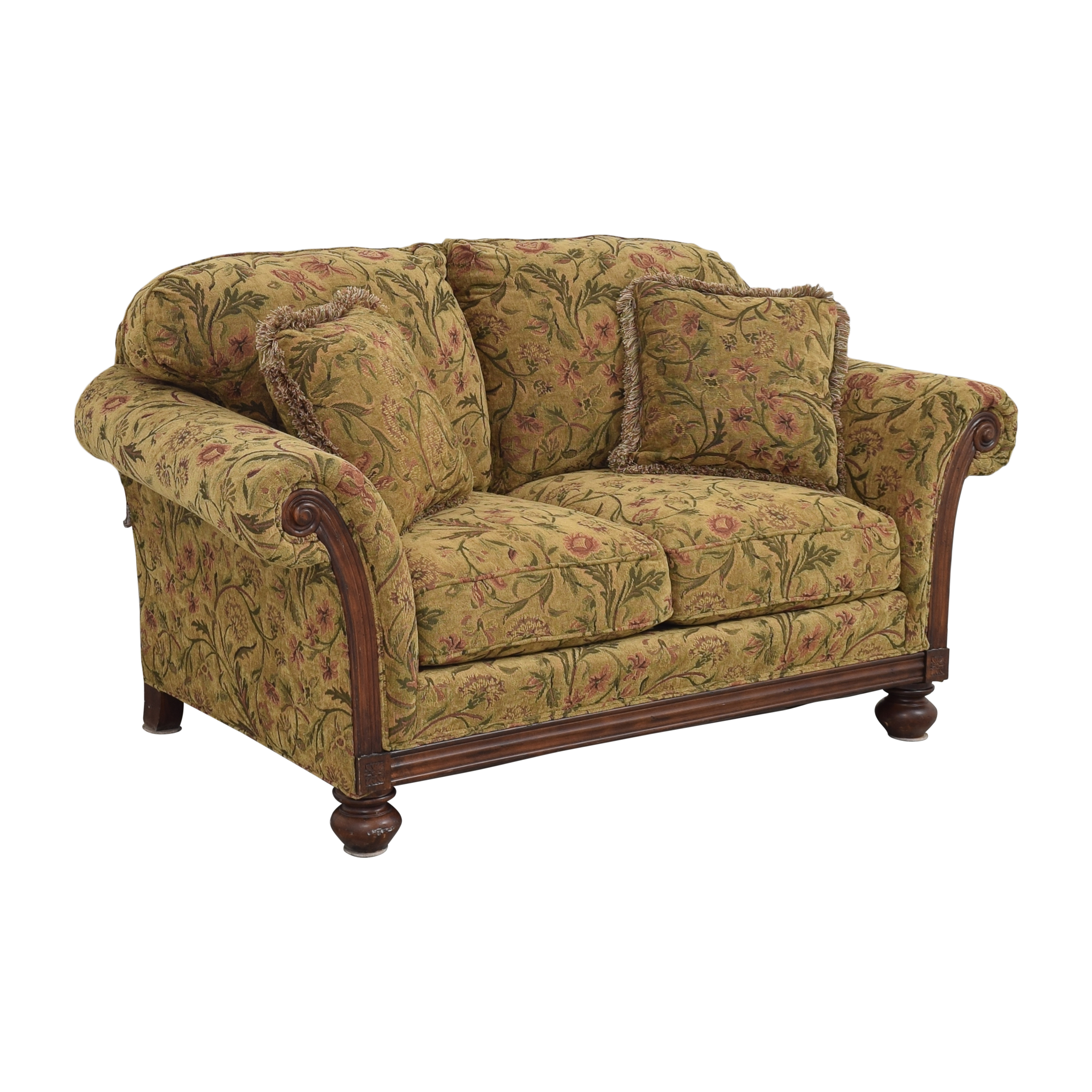 Clayton Marcus Clayton Marcus Floral Roll Arm Loveseat pa