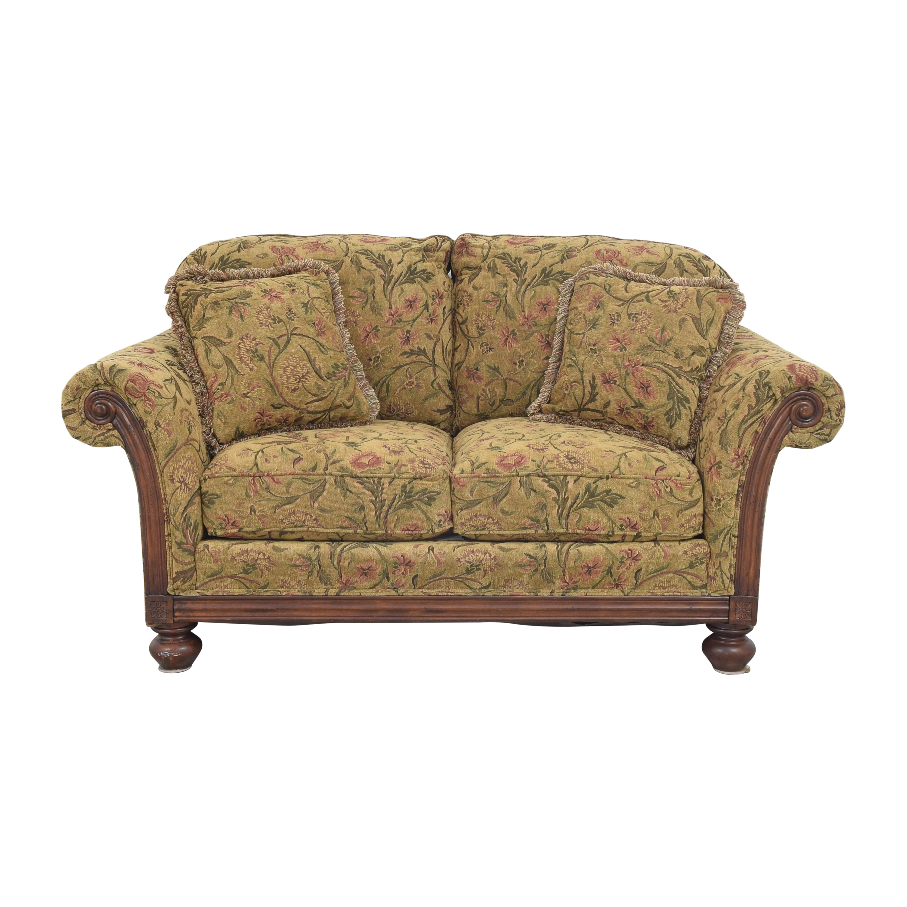 Clayton Marcus Clayton Marcus Floral Roll Arm Loveseat second hand