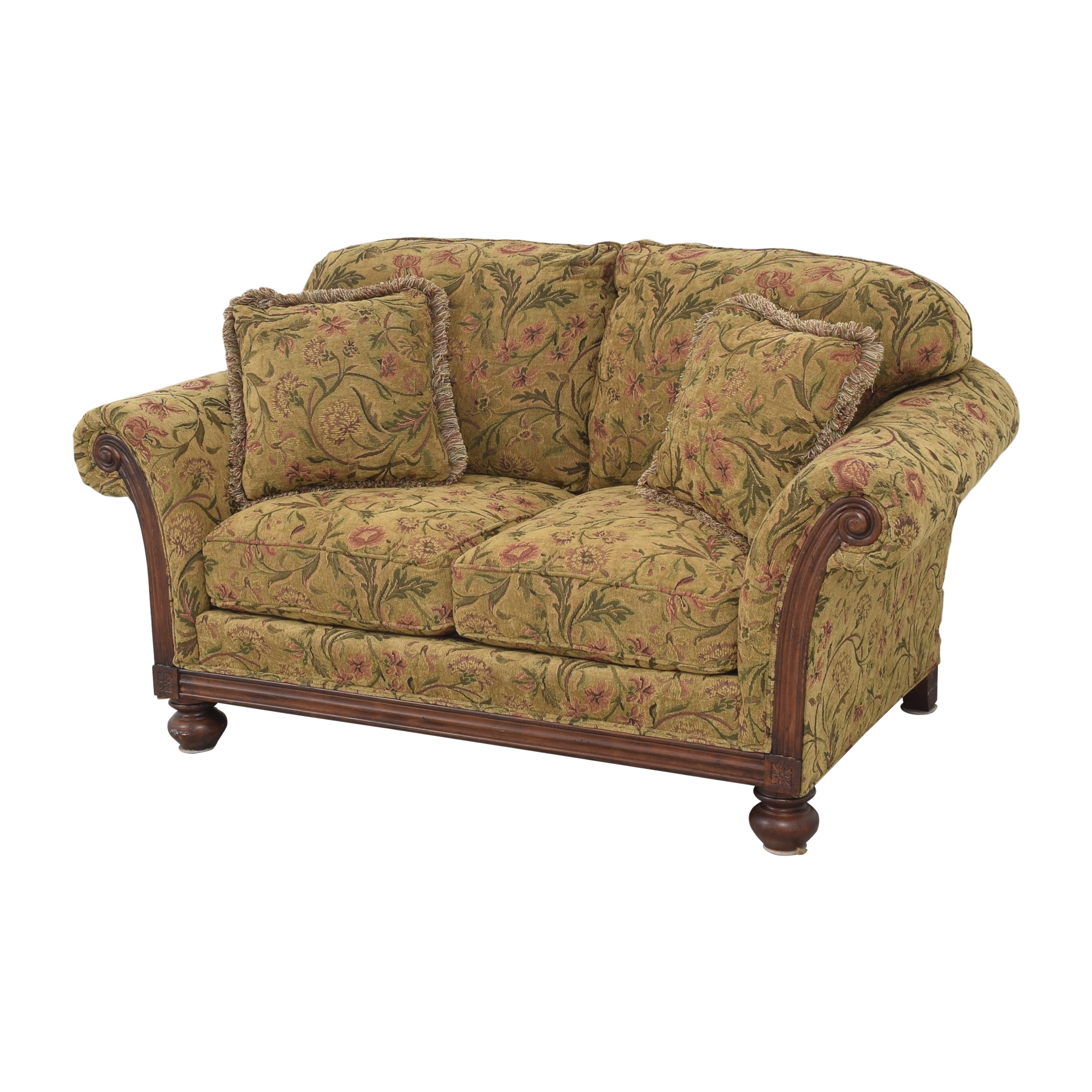 Clayton Marcus Clayton Marcus Floral Roll Arm Loveseat on sale