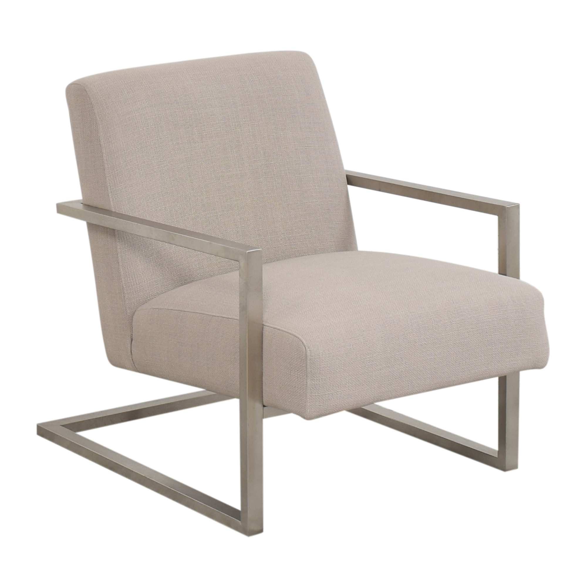 Armen Living Armen Living Skyline Accent Chair silver and gray