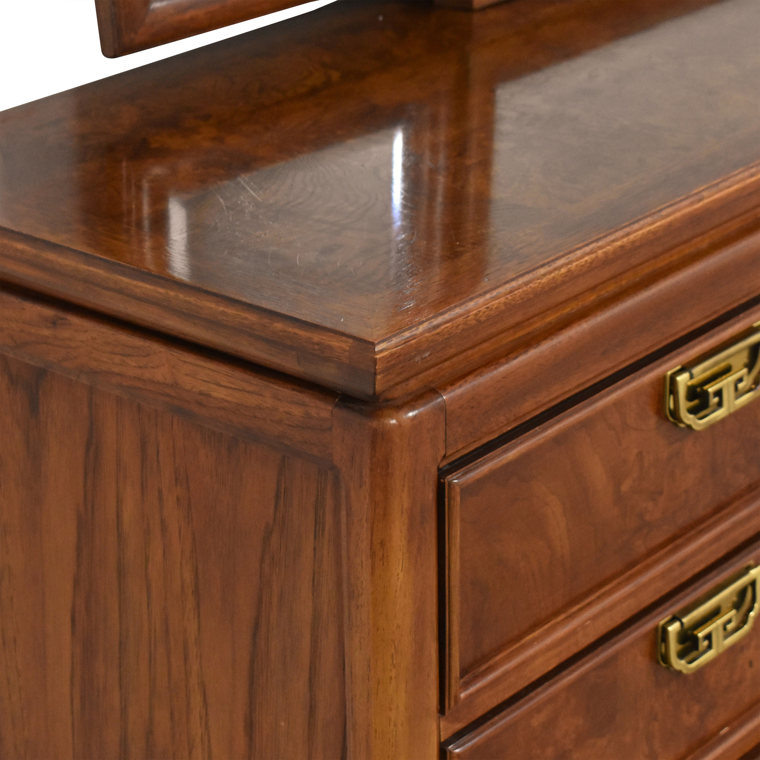 Thomasville Mystique Campaign Triple Dresser with Mirror Thomasville