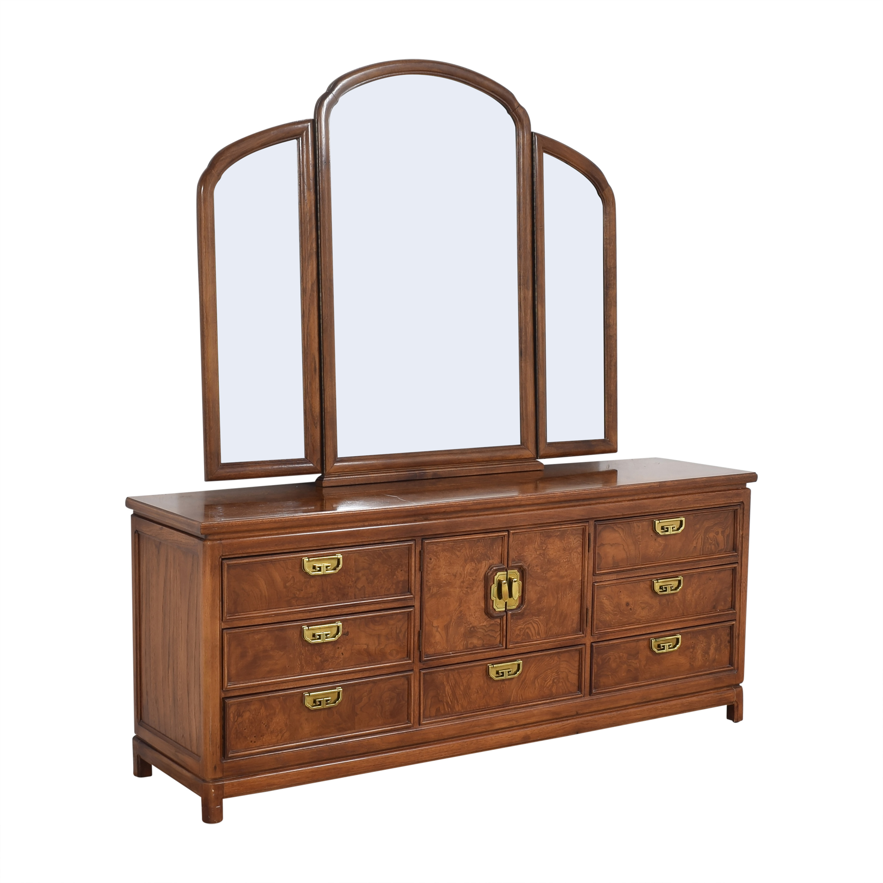 Thomasville Thomasville Mystique Campaign Triple Dresser with Mirror Dressers