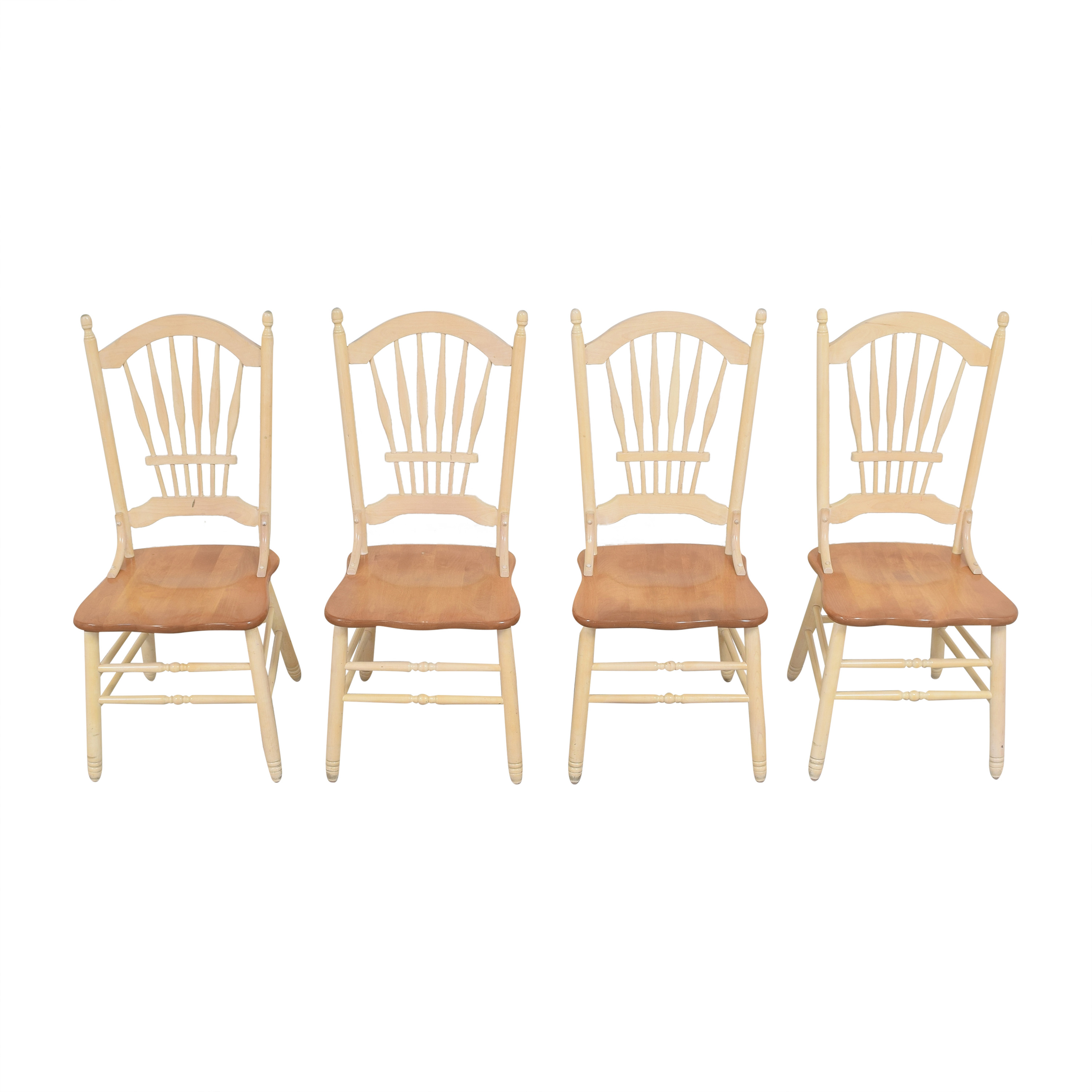 Country White Dining Chairs dimensions