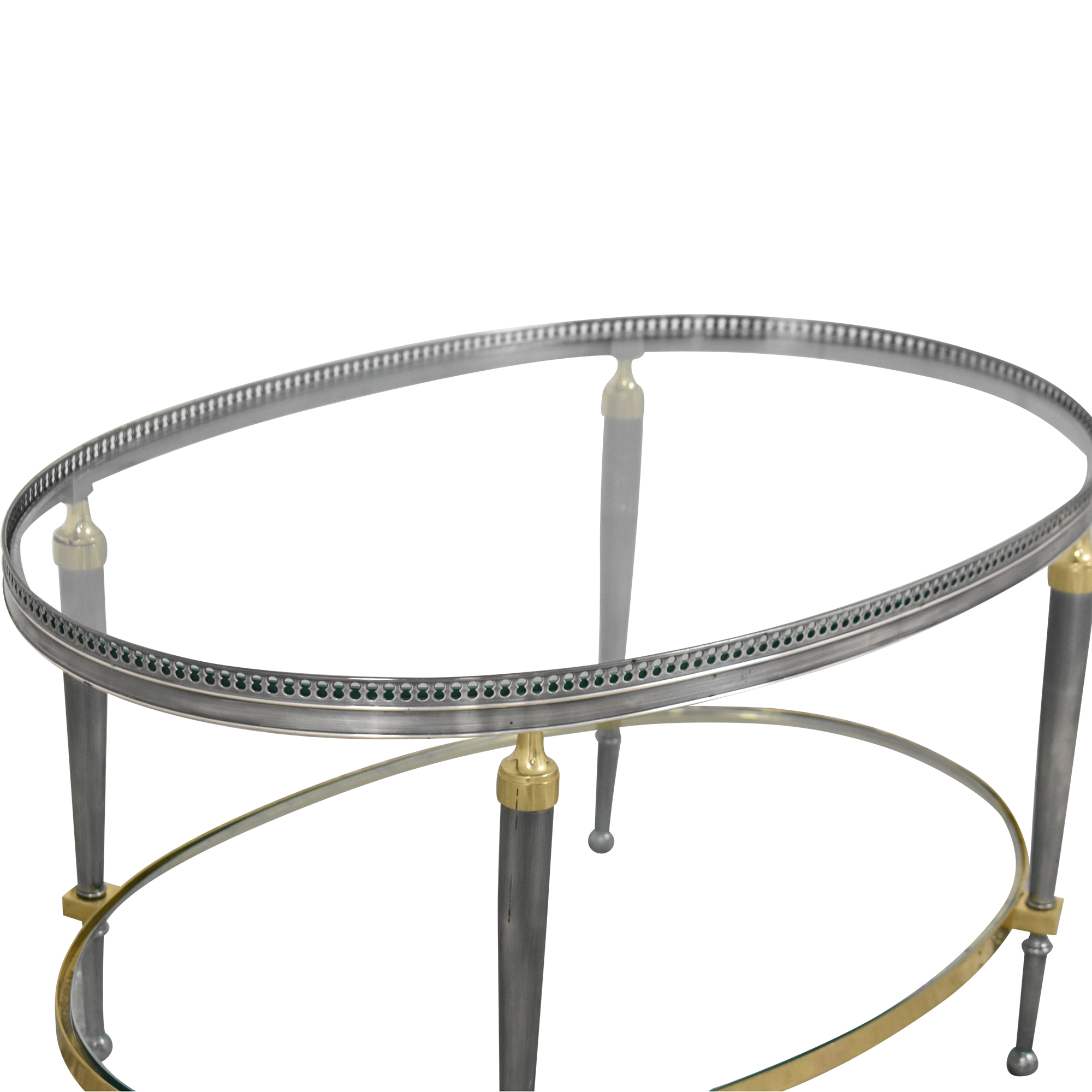 Trouvailles Trouvailles Oval Coffee Table pa