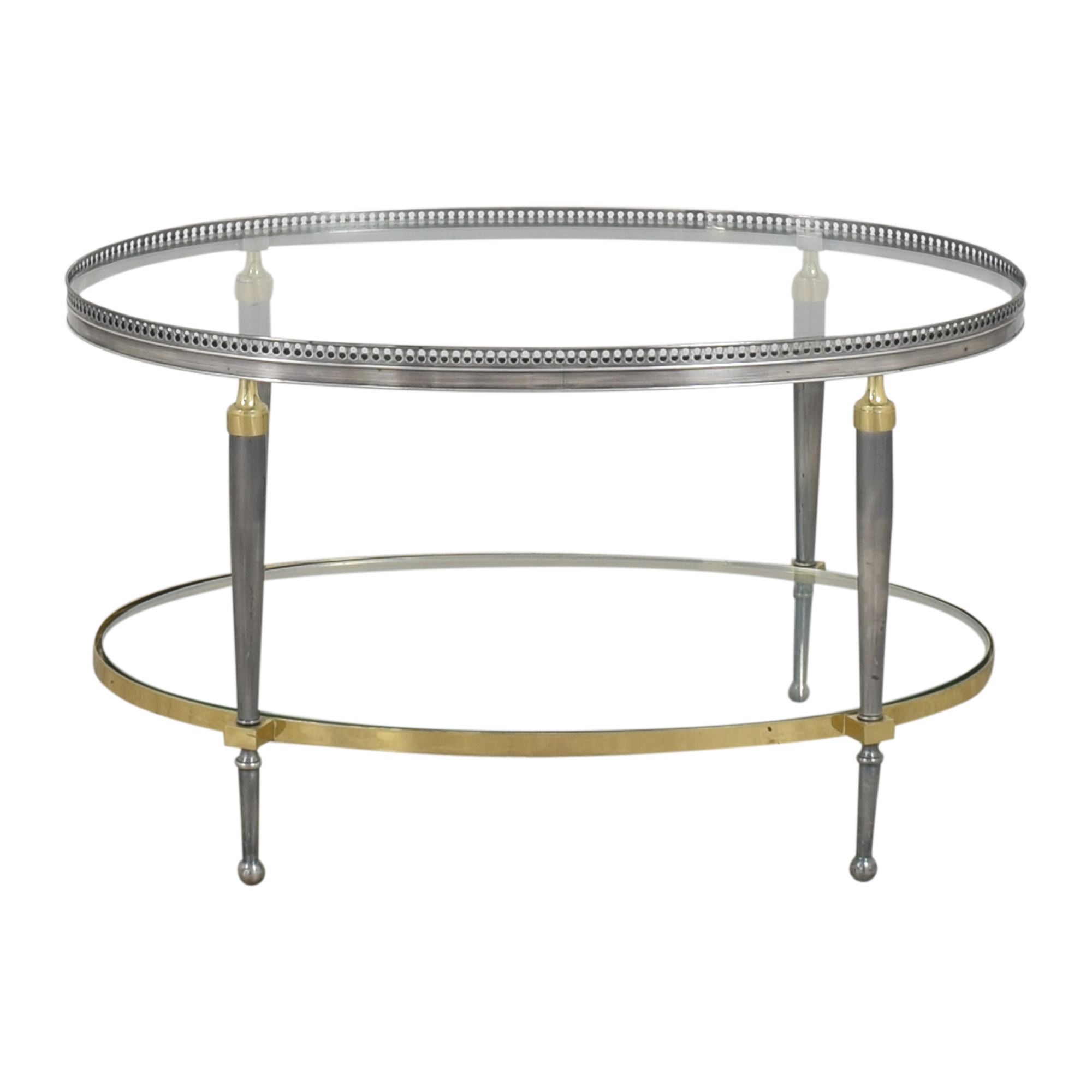 Trouvailles Trouvailles Oval Coffee Table nj