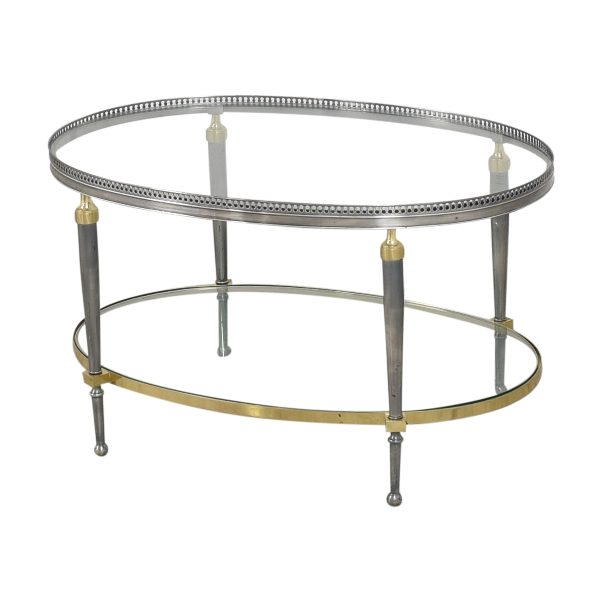 Trouvailles Trouvailles Oval Coffee Table for sale