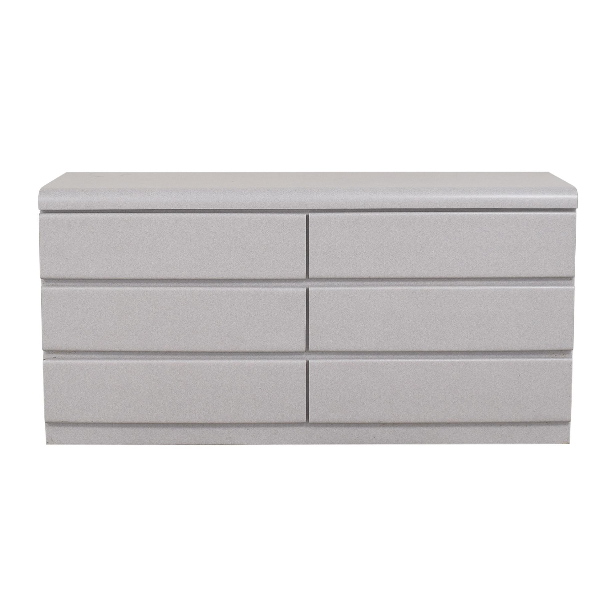 2xhome 2xhome Six Drawer Modern Dresser nyc