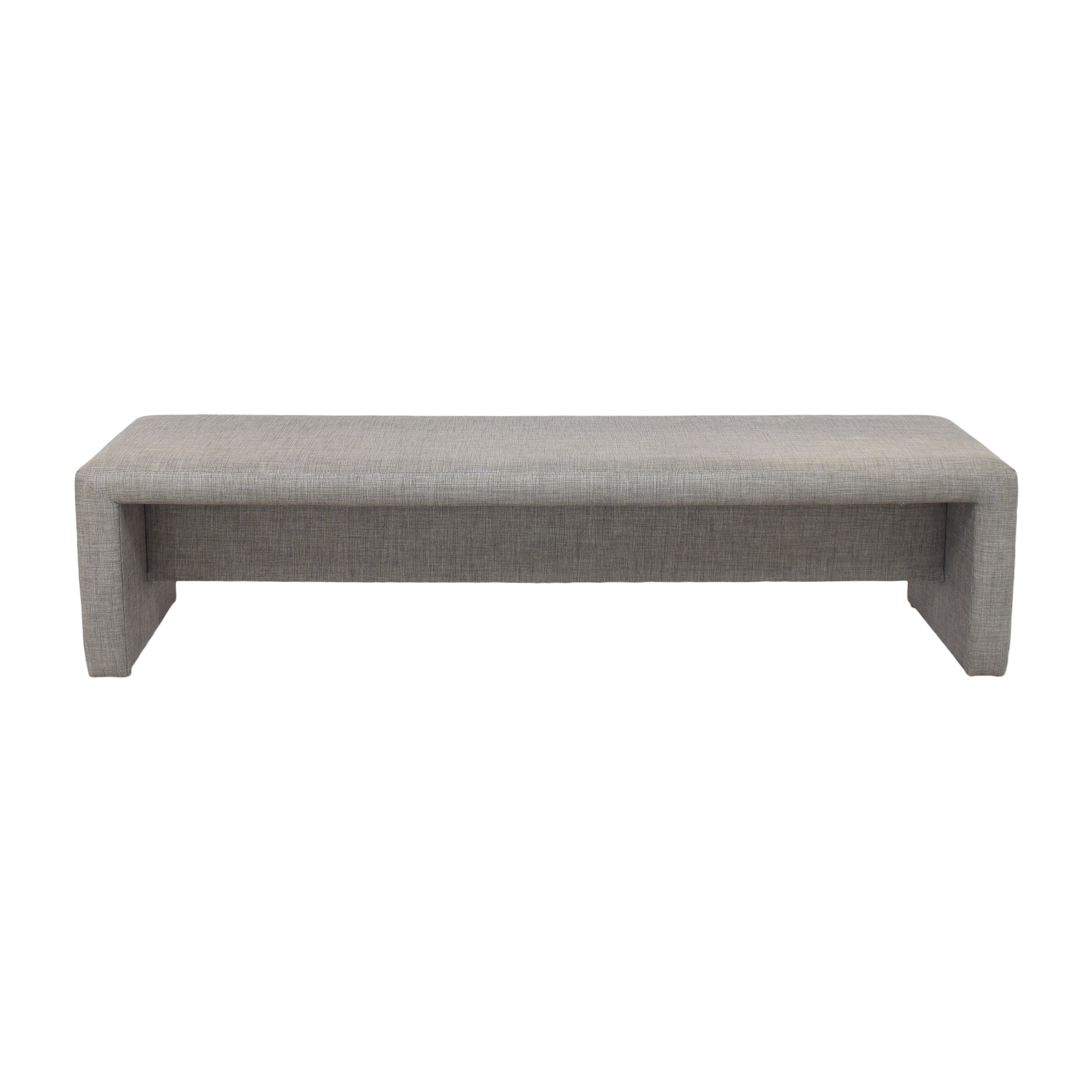 Waterfall Upholstered Bench on sale