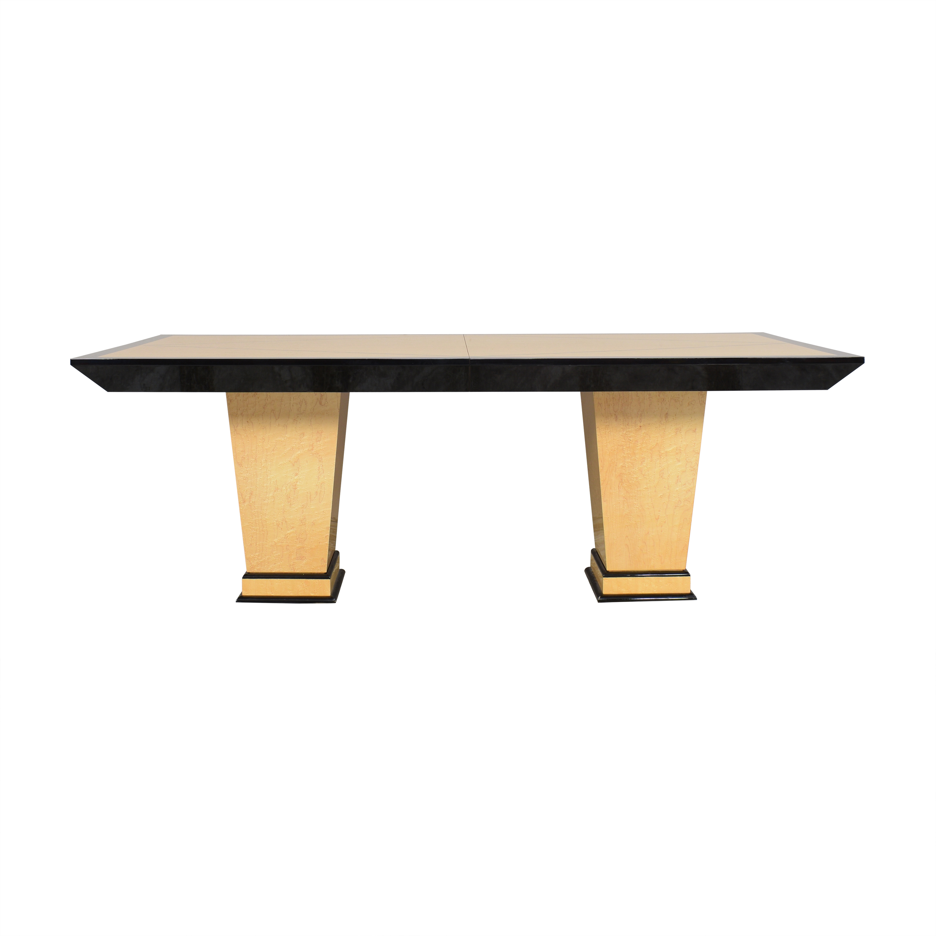 shop Custom Two Pedestal Extendable Dining Table  Tables