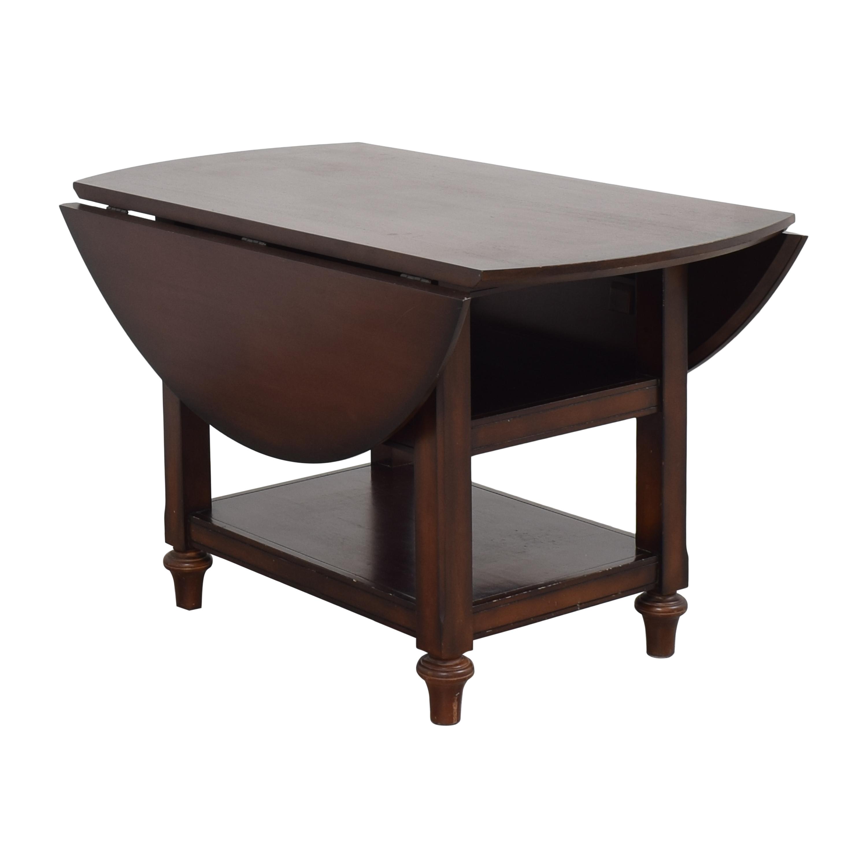 buy Pottery Barn Shayne Round Drop Leaf Dining Table Pottery Barn Dinner Tables
