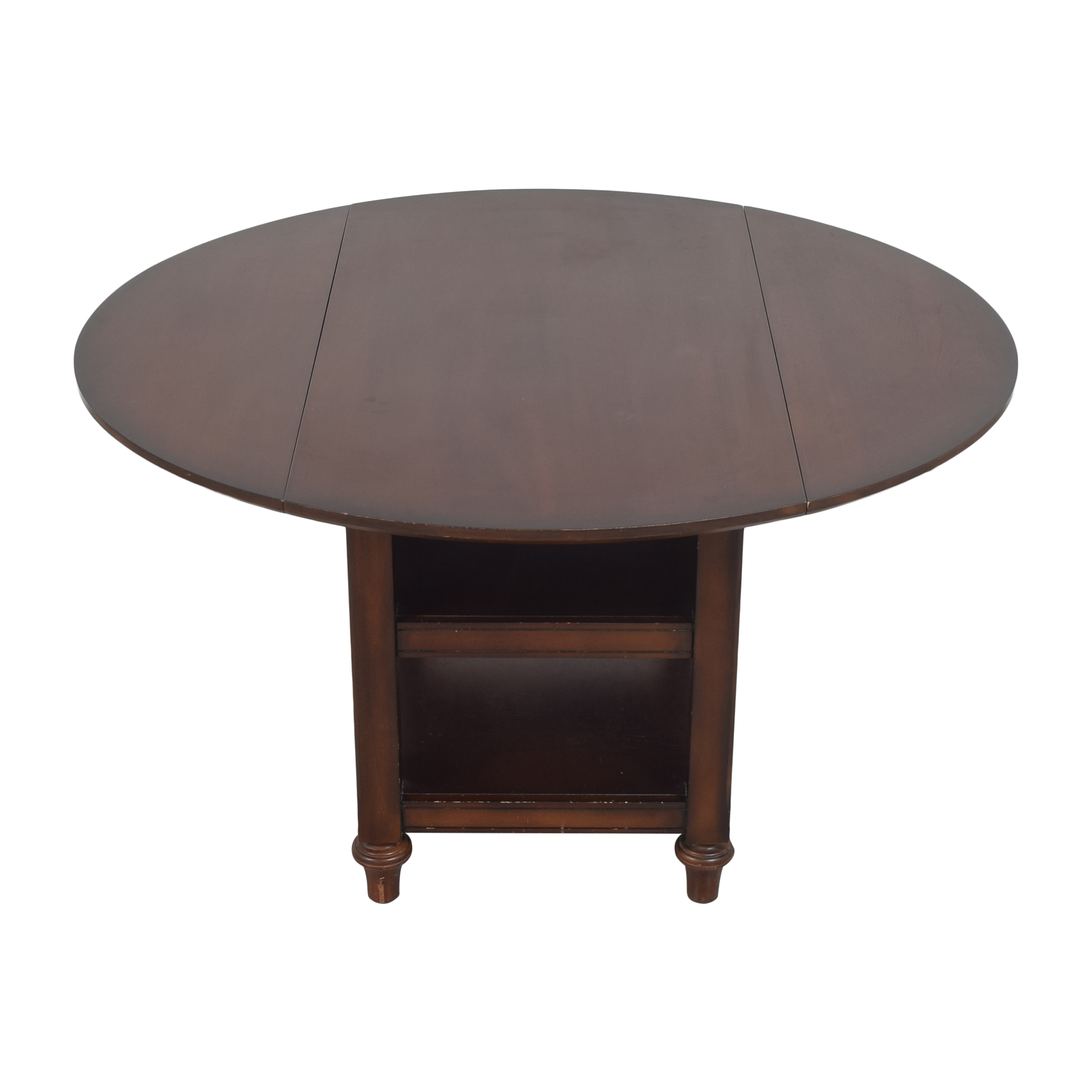 Pottery Barn Pottery Barn Shayne Round Drop Leaf Dining Table dimensions