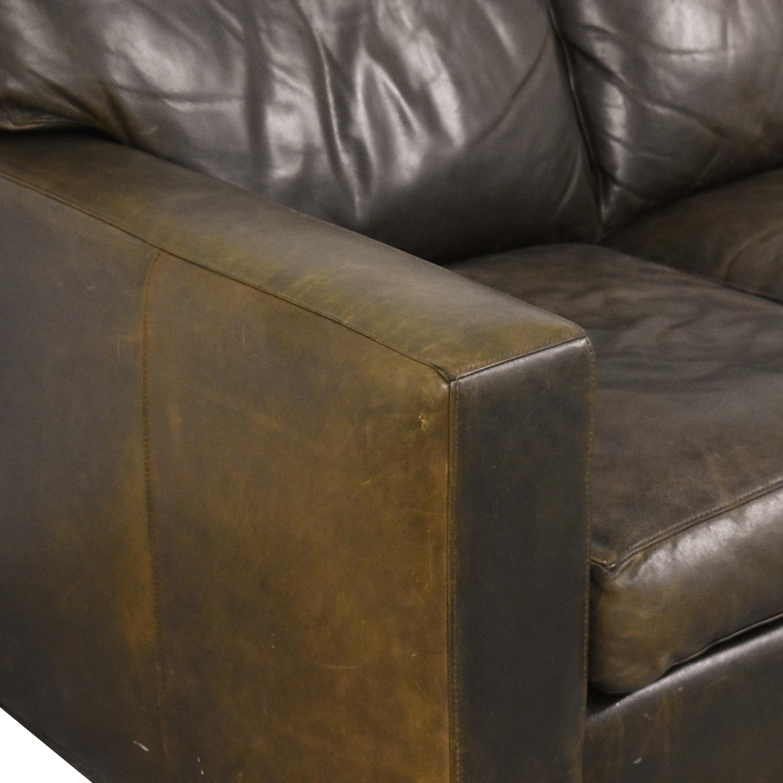 shop Crate & Barrel Axis II Three Seat Sofa Crate & Barrel Classic Sofas
