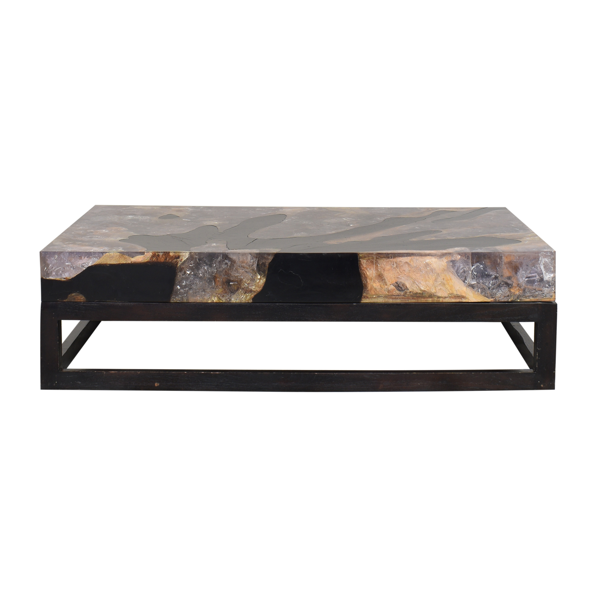 buy Andrianna Shamaris Andrianna Shamaris Natural Cracked Coffee Table online