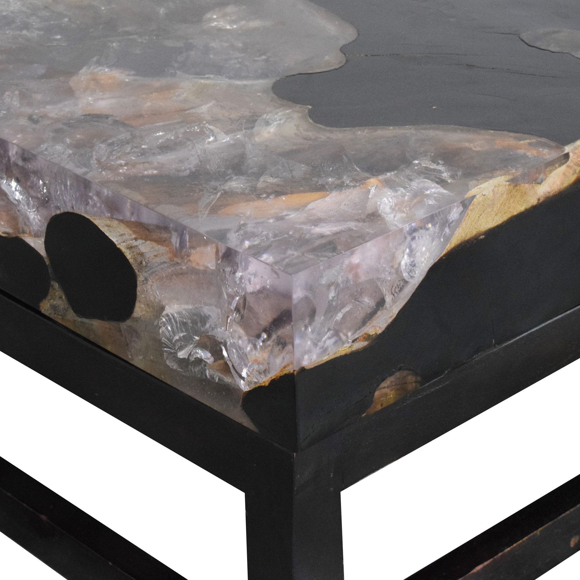 Andrianna Shamaris Natural Cracked Coffee Table / Coffee Tables