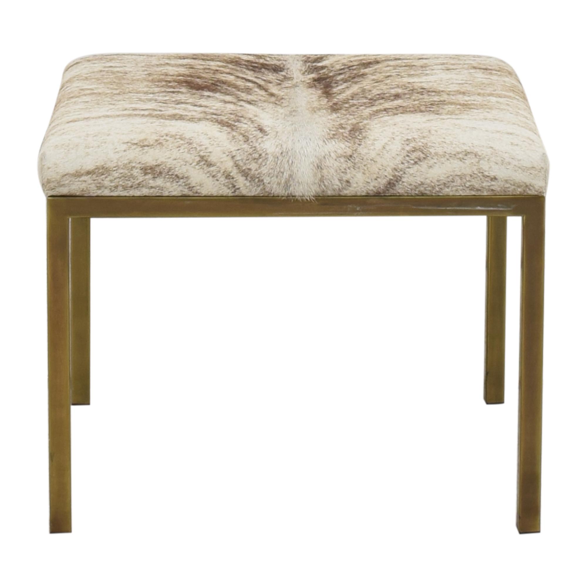 Modern Rectangular Bench on sale