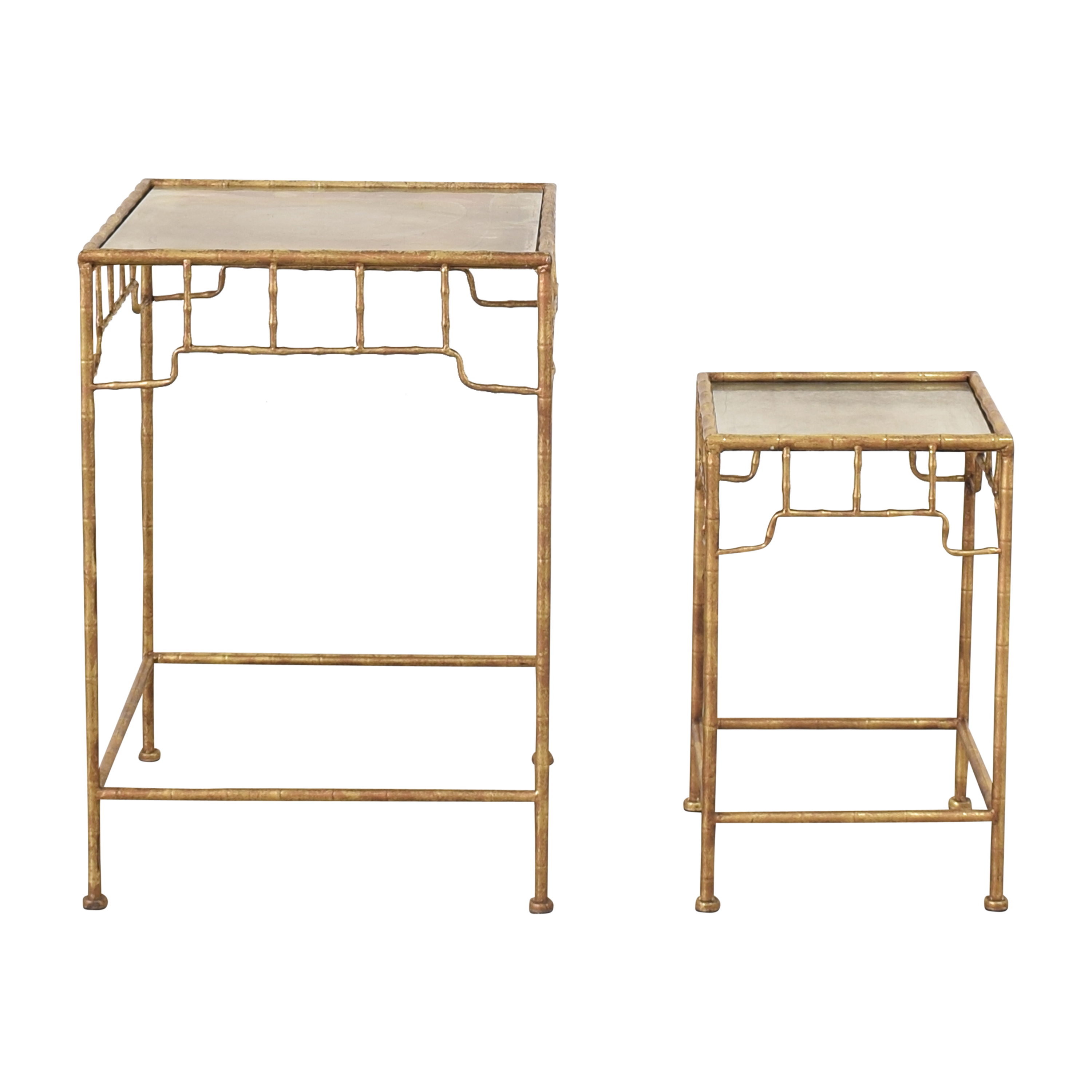 Two's Company Two's Company Bamboo-Style Nesting Tables Tables
