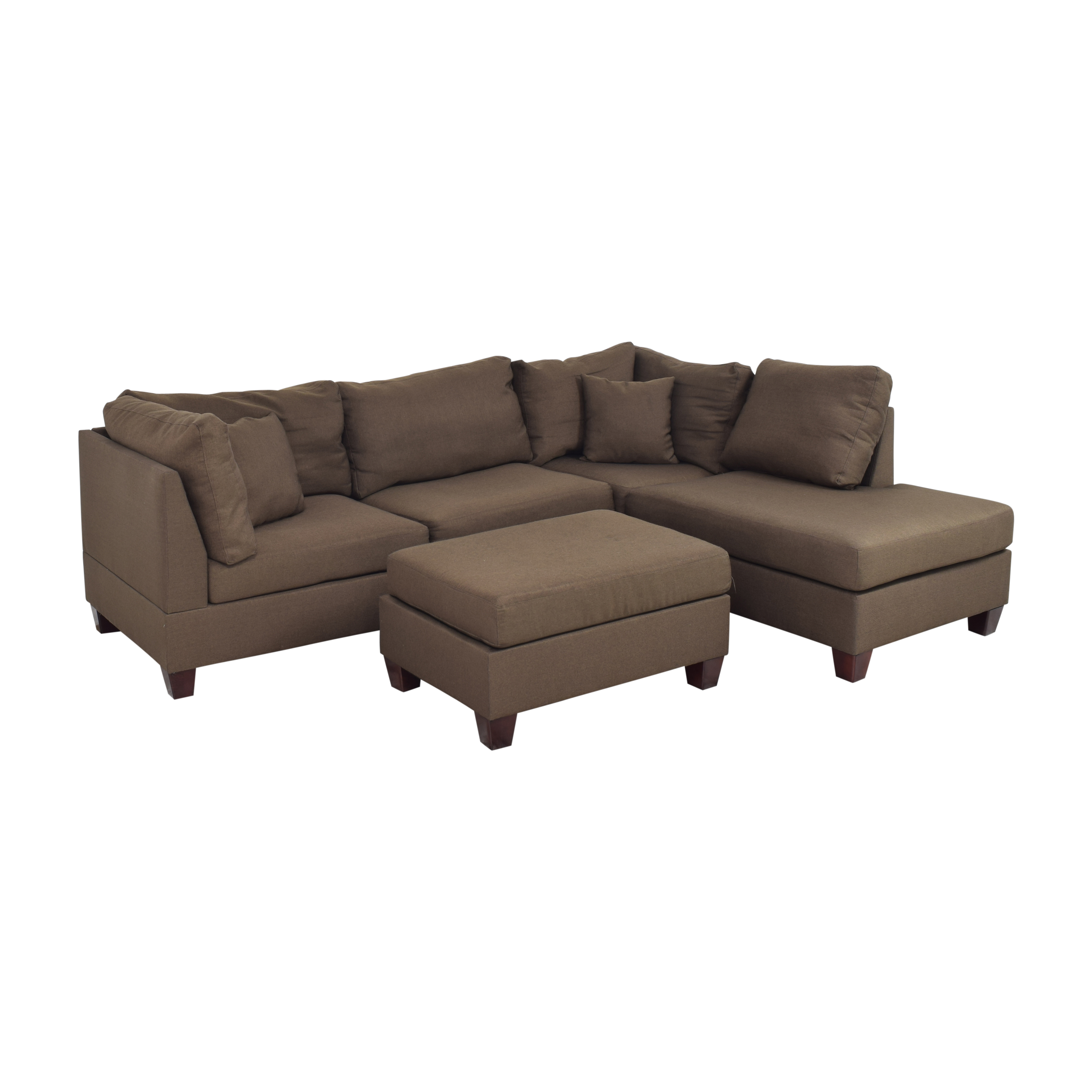 shop Wayfair Jacober Wide Reversible Chaise Sectional with Ottoman Wayfair