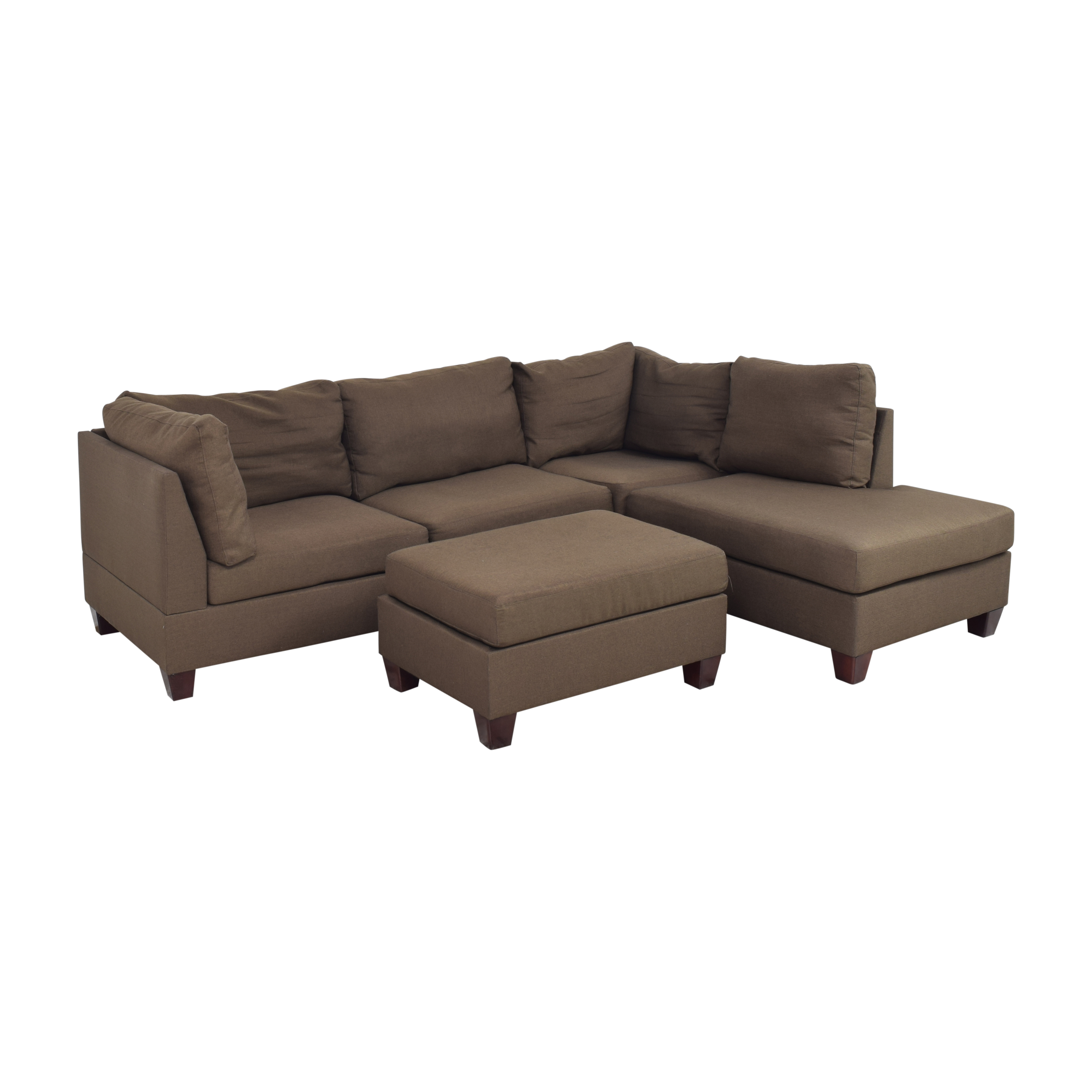 Wayfair Jacober Wide Reversible Chaise Sectional with Ottoman / Sectionals