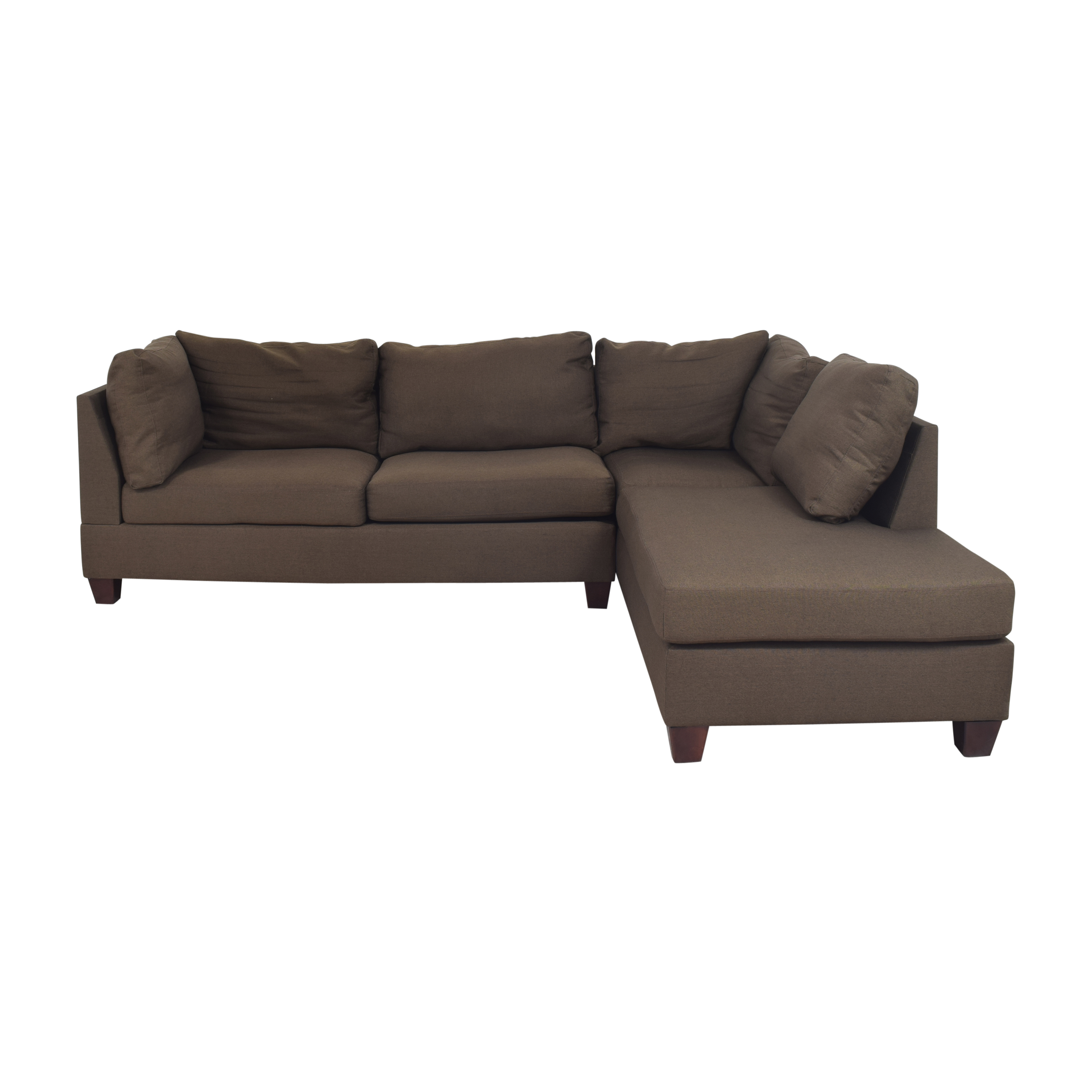buy Wayfair Jacober Wide Reversible Chaise Sectional with Ottoman Wayfair