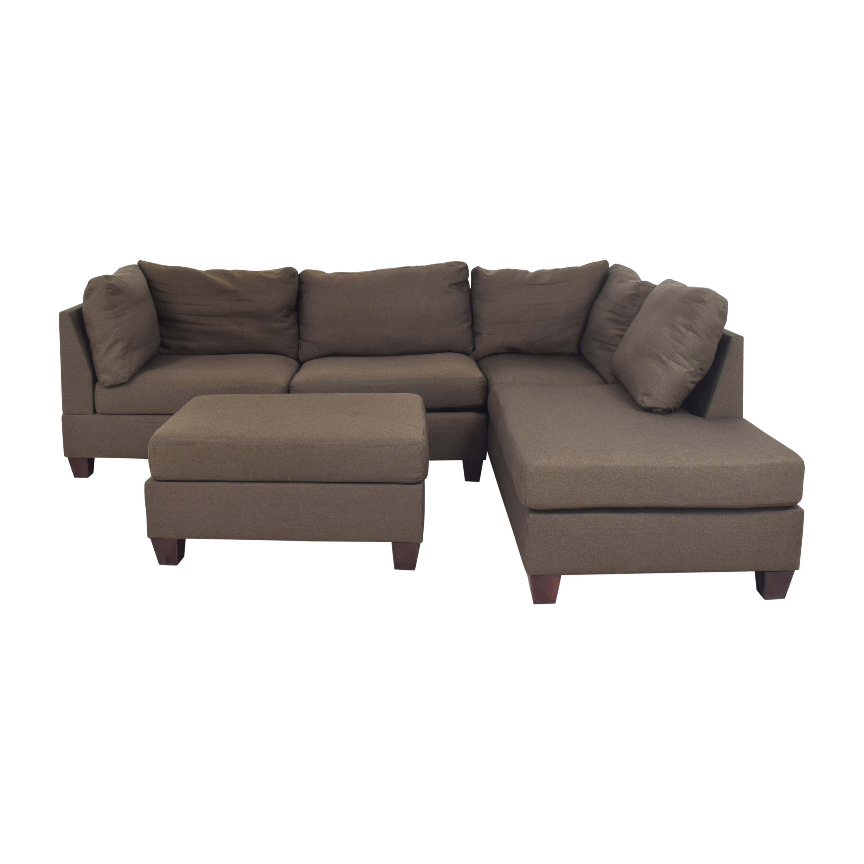 Wayfair Wayfair Jacober Wide Reversible Chaise Sectional with Ottoman price