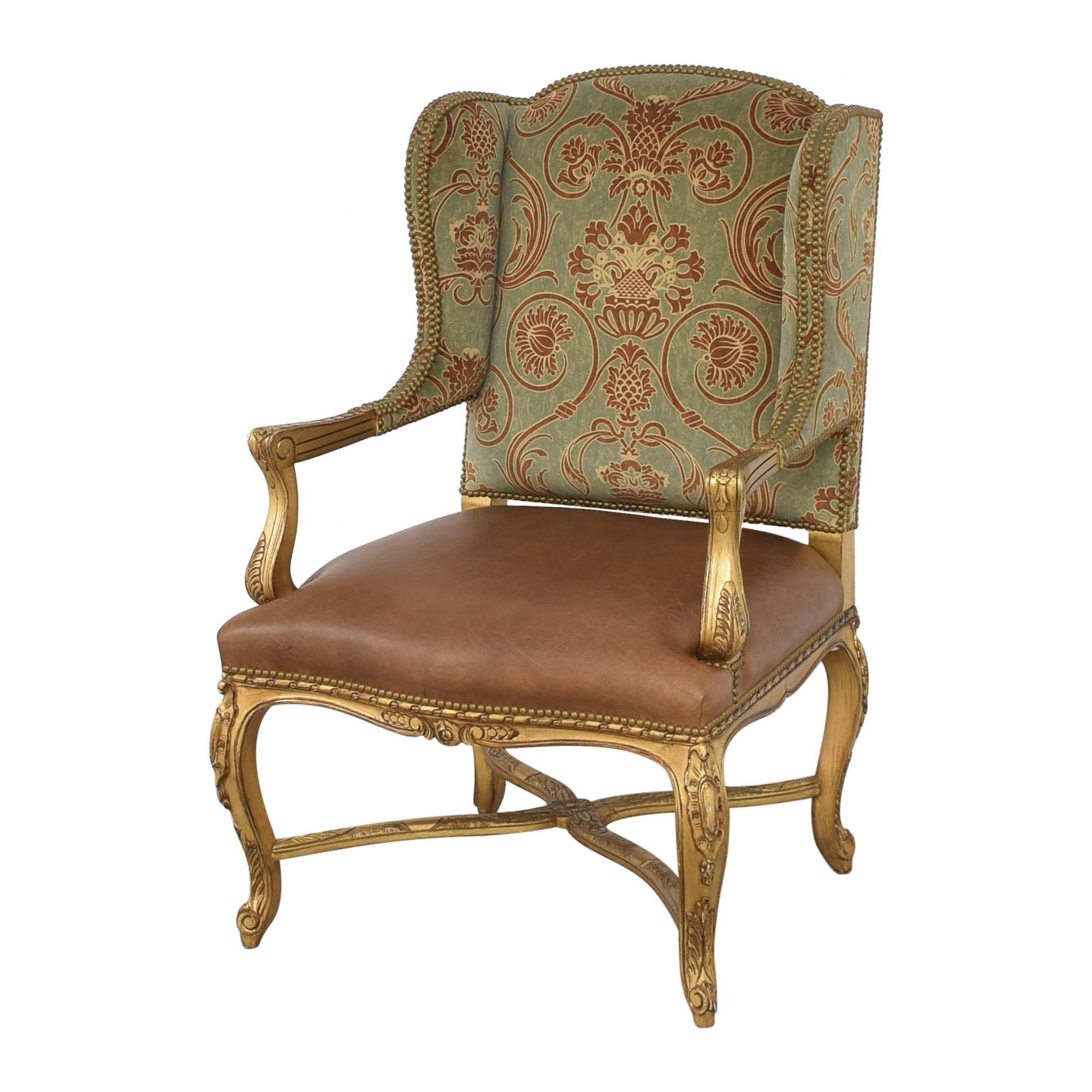 shop French-Style Wing Back Arm Chair  Accent Chairs