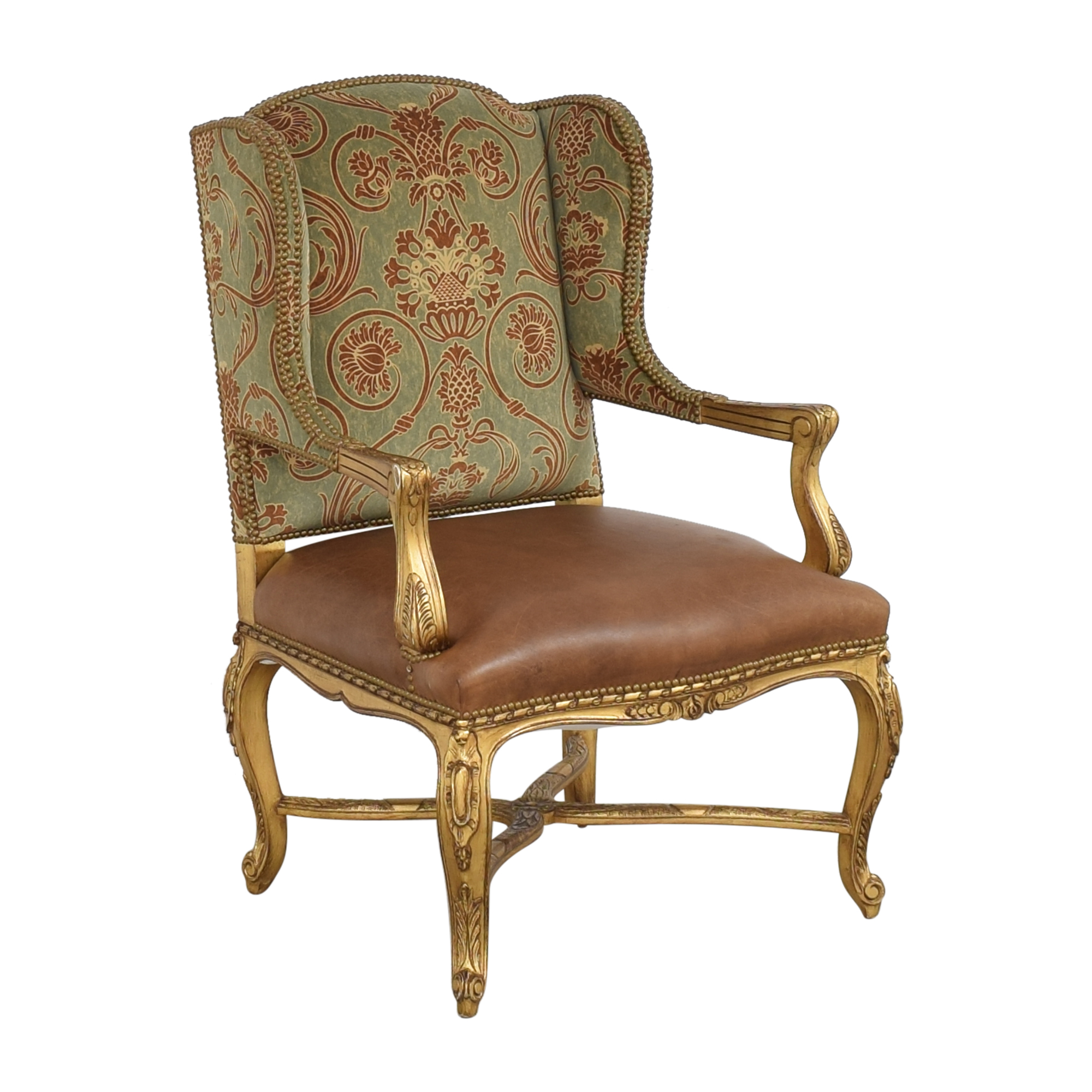 French-Style Wing Back Arm Chair second hand