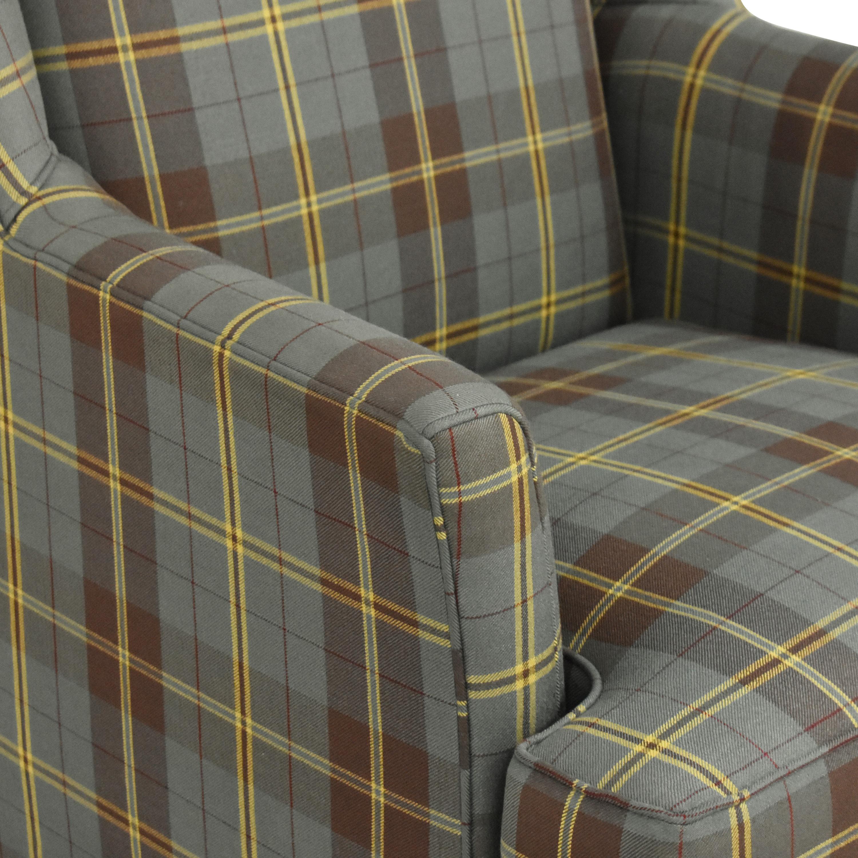 Crate & Barrel Wingback Armchair sale
