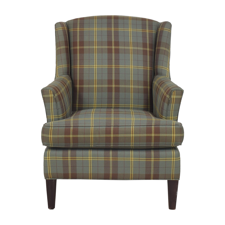 shop Crate & Barrel Wingback Armchair Crate & Barrel Chairs
