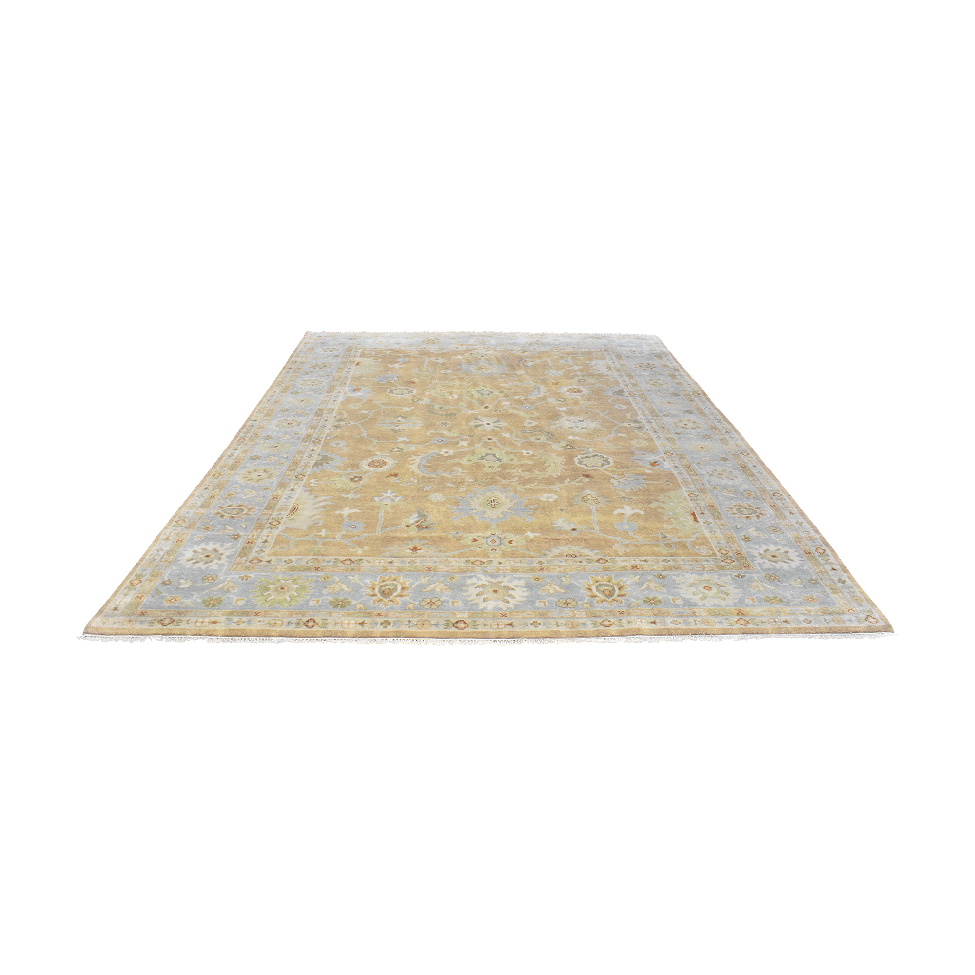 Turkish-Style Patterned Area Rug for sale
