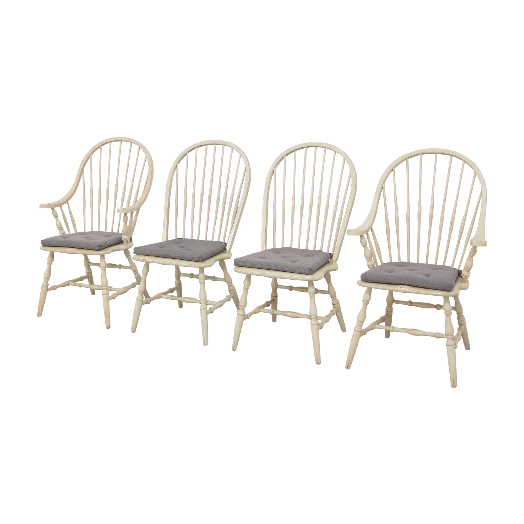 Windsor Dining Chairs white, grey