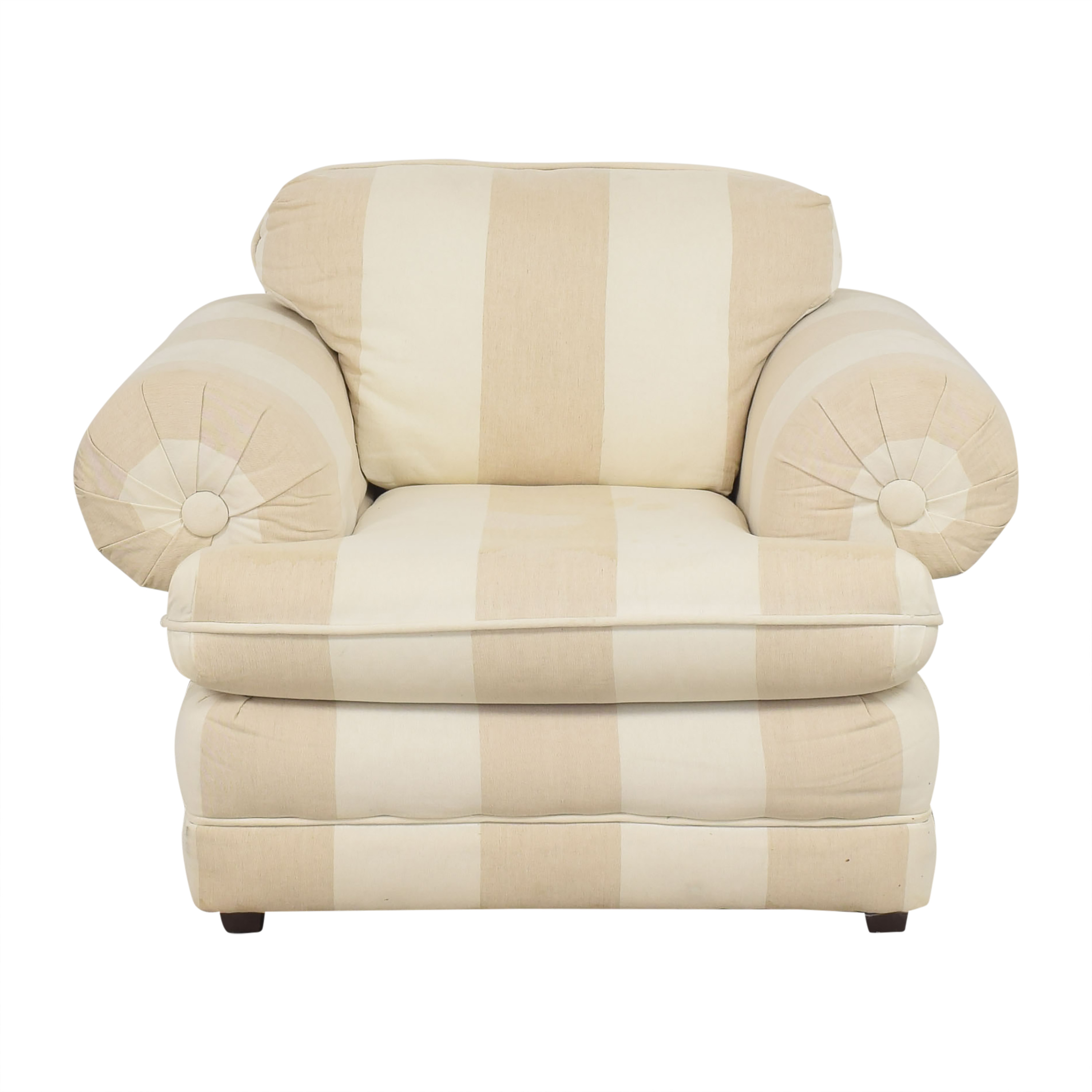 Roll Arm Stripe Accent Chair price