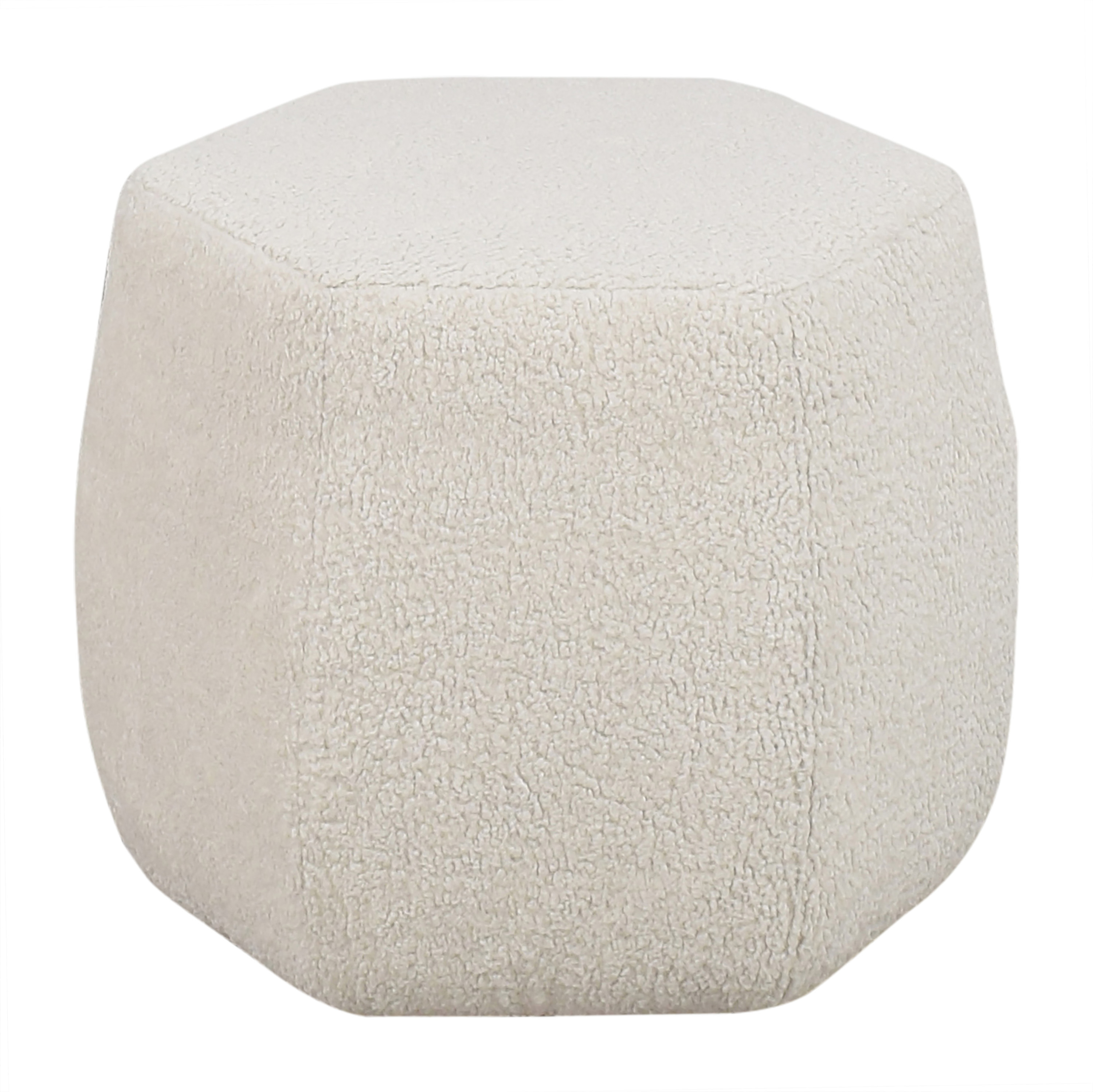 ABC Carpet & Home ABC Carpet & Home Joe's Hex Ottoman off white
