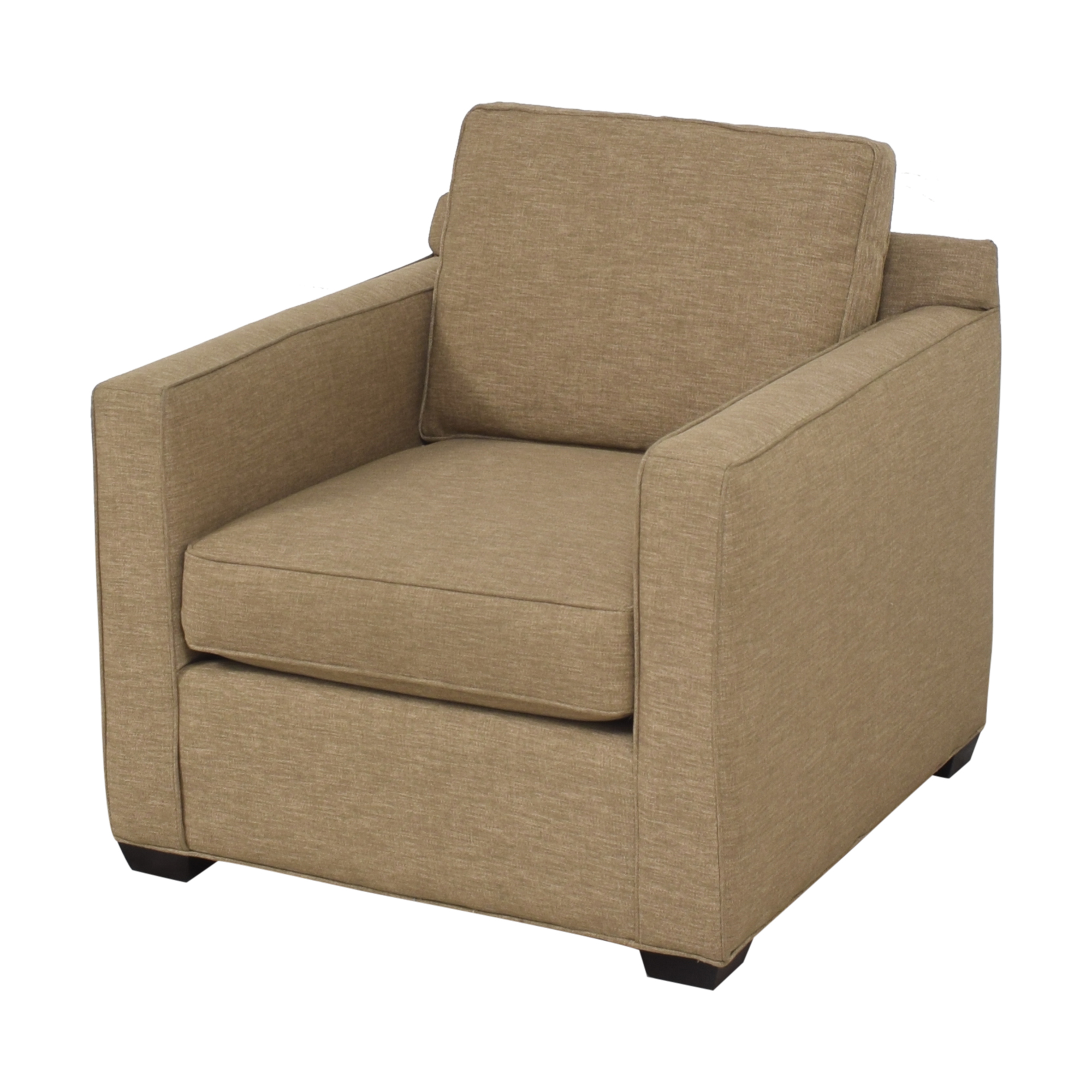 Crate & Barrel Crate & Barrel Barrett Track Arm Chair dimensions