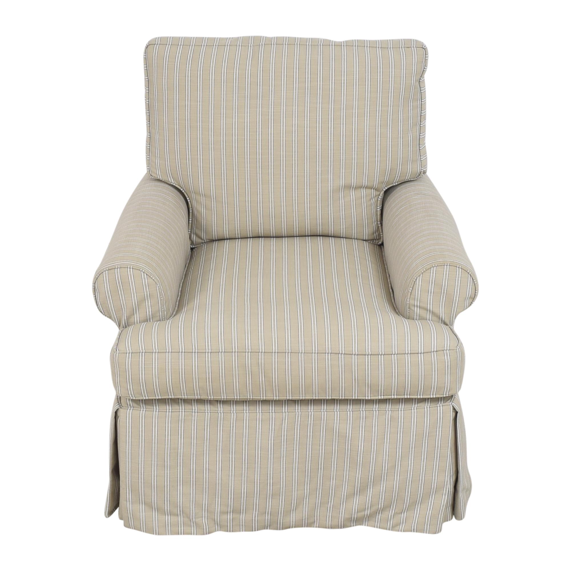 shop Restoration Hardware Skirted Glider  Restoration Hardware Accent Chairs