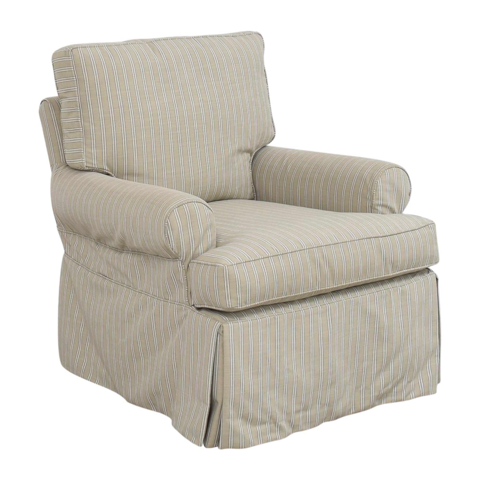 buy Restoration Hardware Skirted Glider  Restoration Hardware Accent Chairs