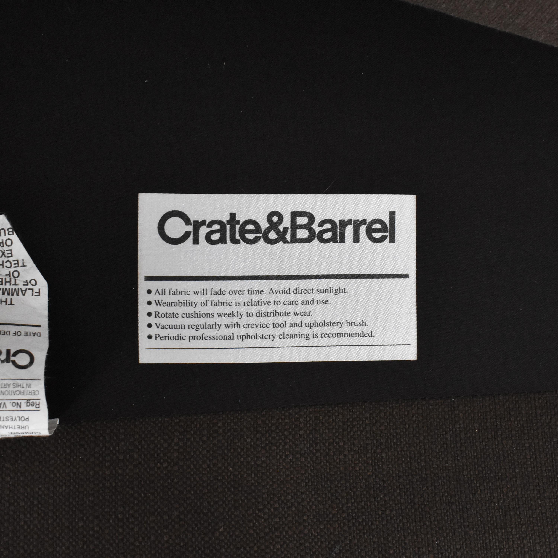 Crate & Barrel Crate & Barrel Petrie Midcentury Sofa dark brown