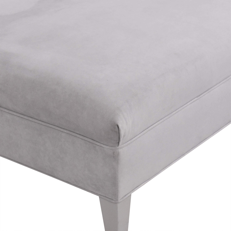 Kravet Kravet Upholstered Ottoman light gray and silver