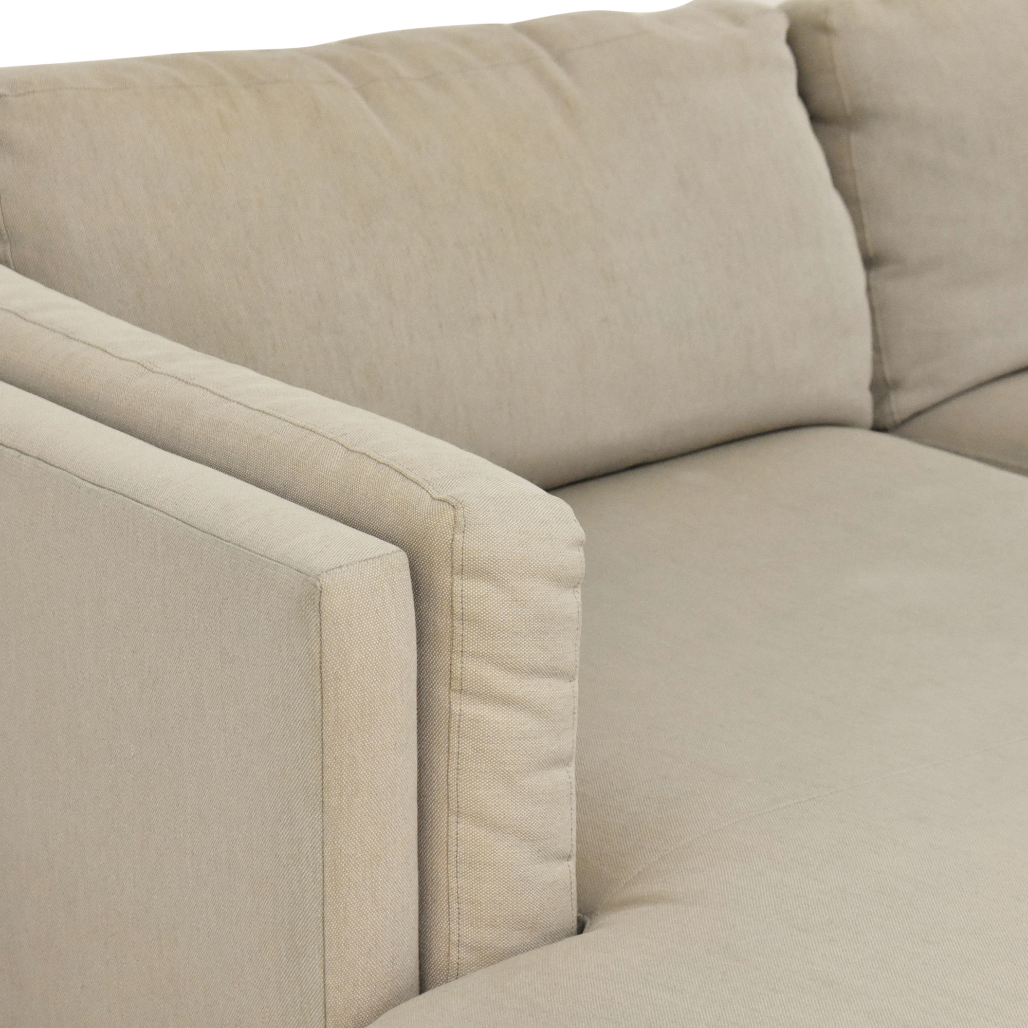 shop Room & Board Chaise Sectional Sofa  Room & Board Sectionals