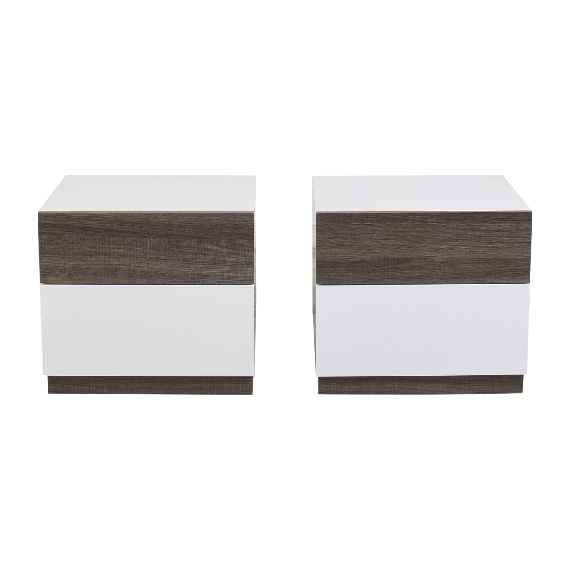 Modern Two Tone Nightstands nyc