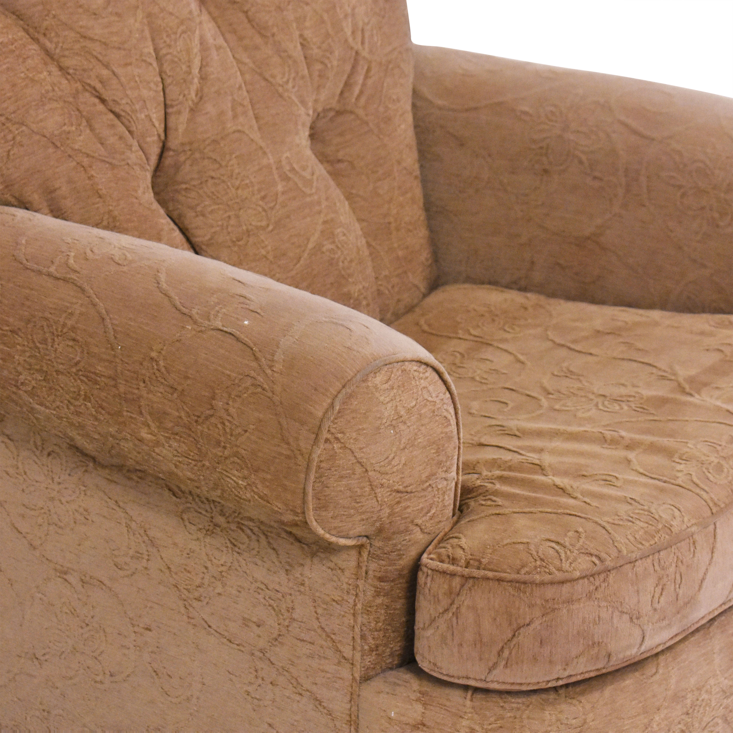Oversized Roll Arm Accent Chair used