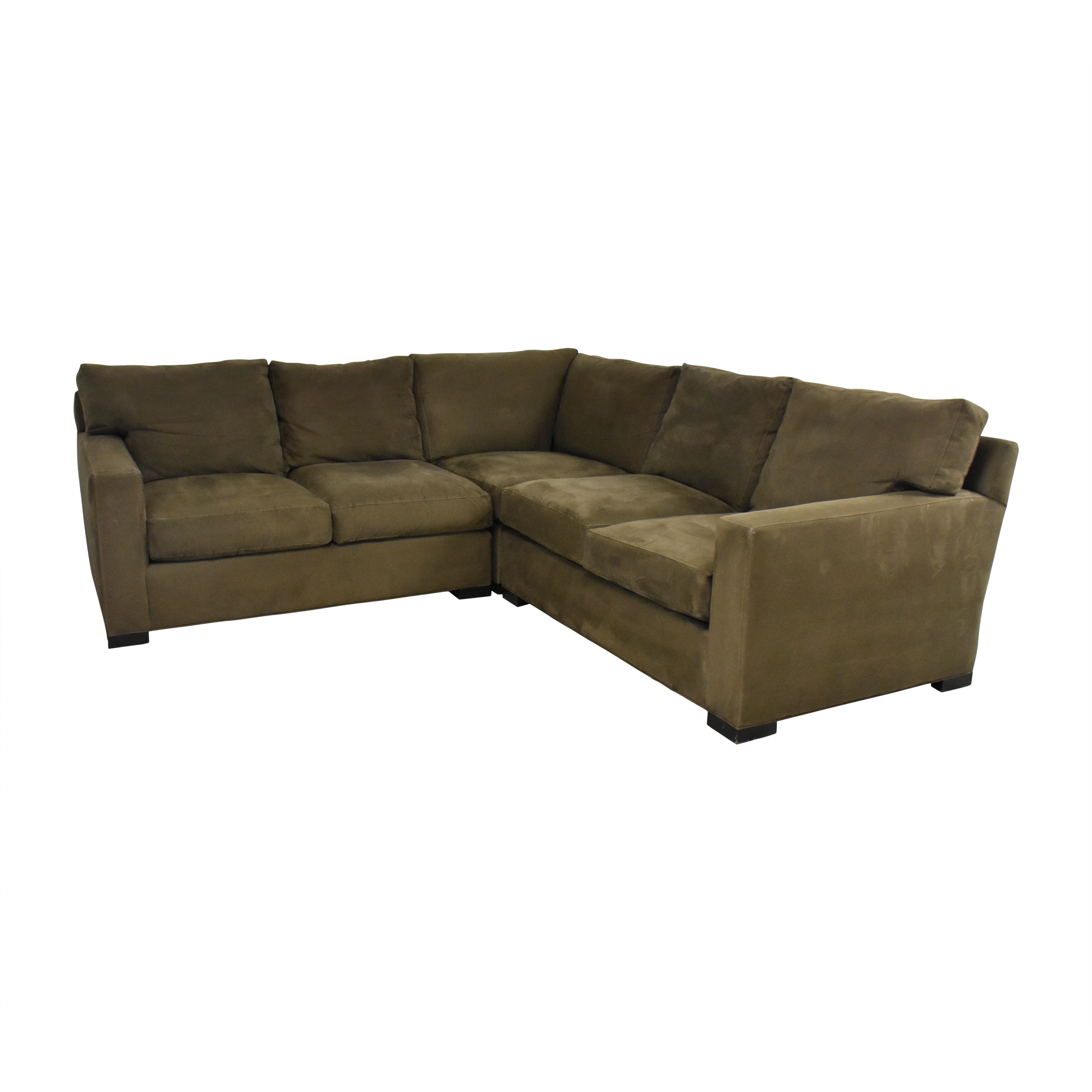 buy Crate & Barrel Axis Three Piece Sectional Sofa Crate & Barrel Sofas