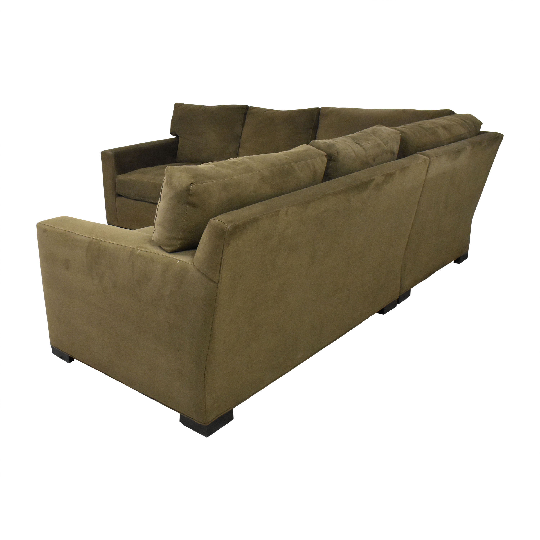 buy Crate & Barrel Axis Three Piece Sectional Sofa Crate & Barrel