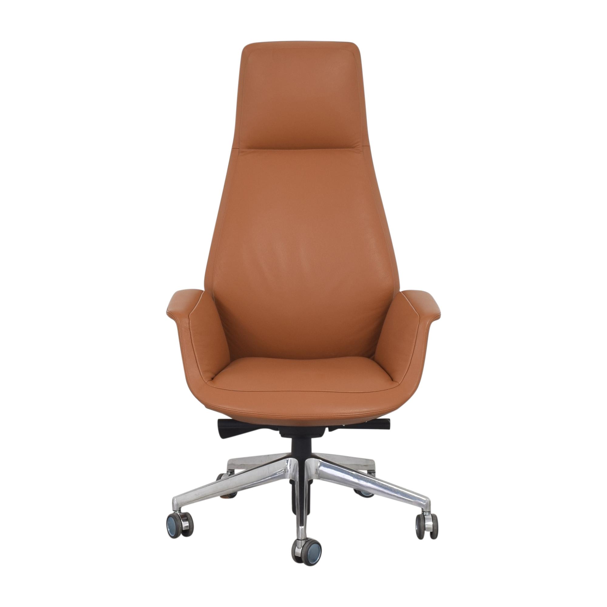 shop Poltrona Frau Downtown High Back Executive Chair Poltrona Frau Chairs
