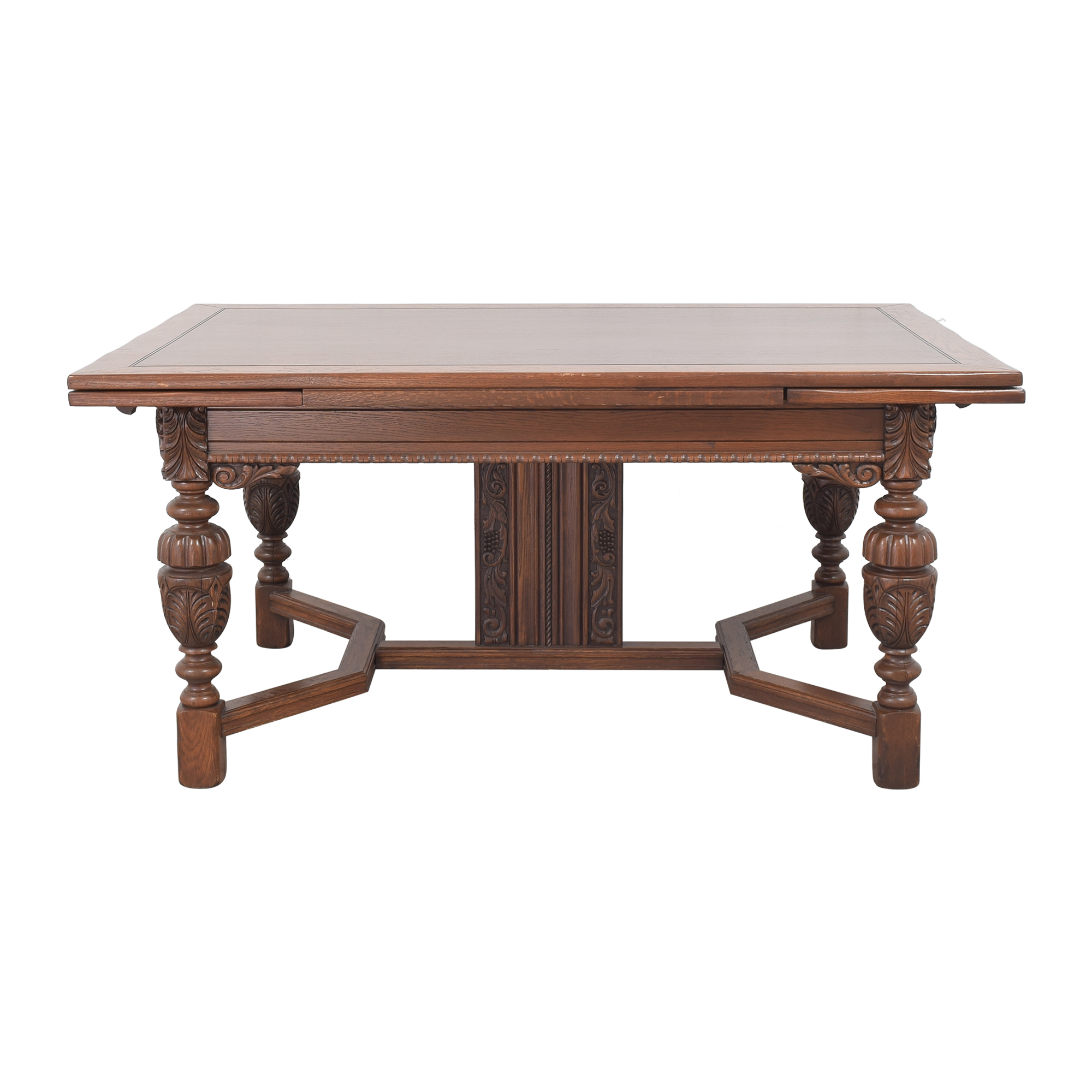 Stiehl Furniture Stiehl Furniture Extendable Trestle Dining Table ma
