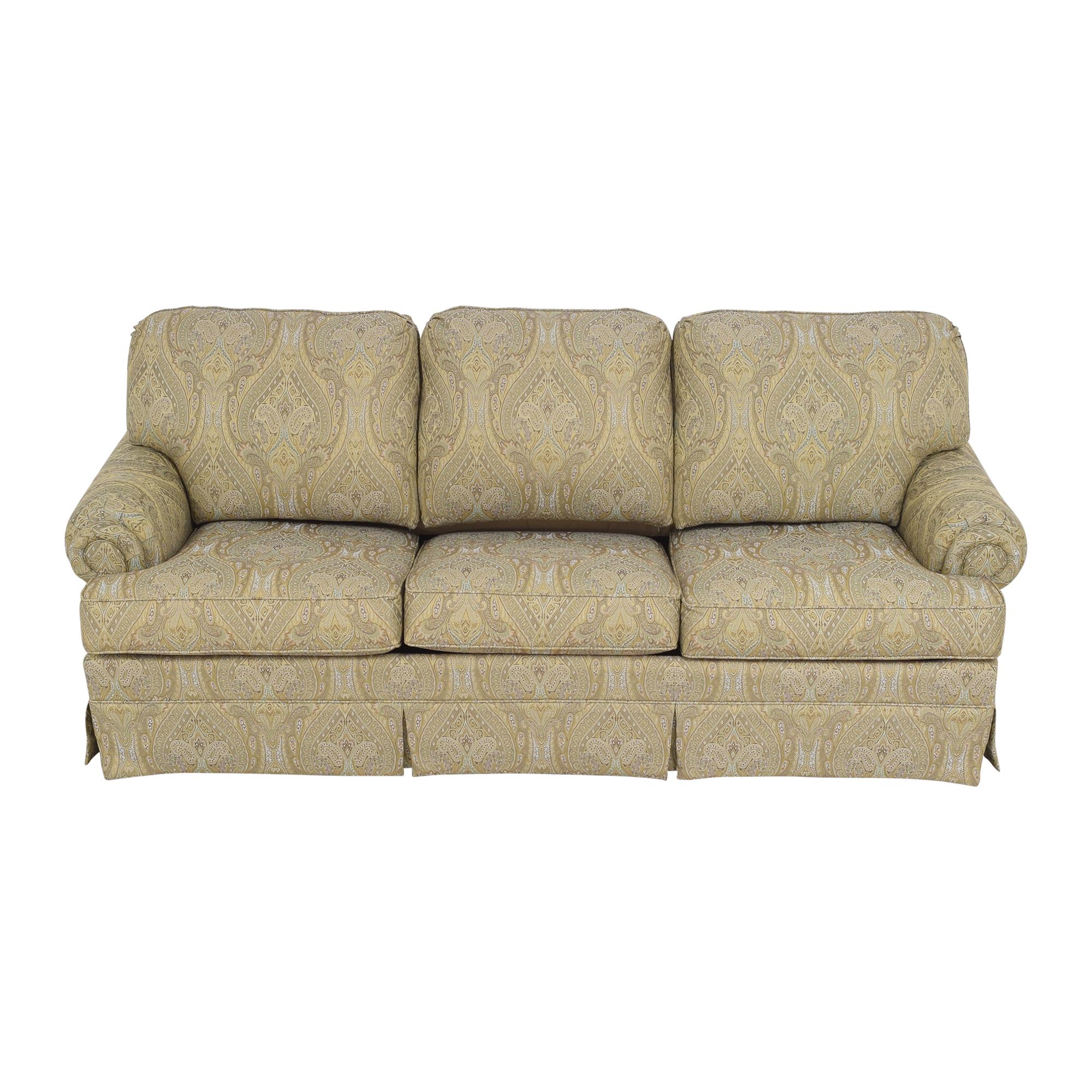 shop Thomasville Paisley Three Cushion Sleeper Sofa Thomasville