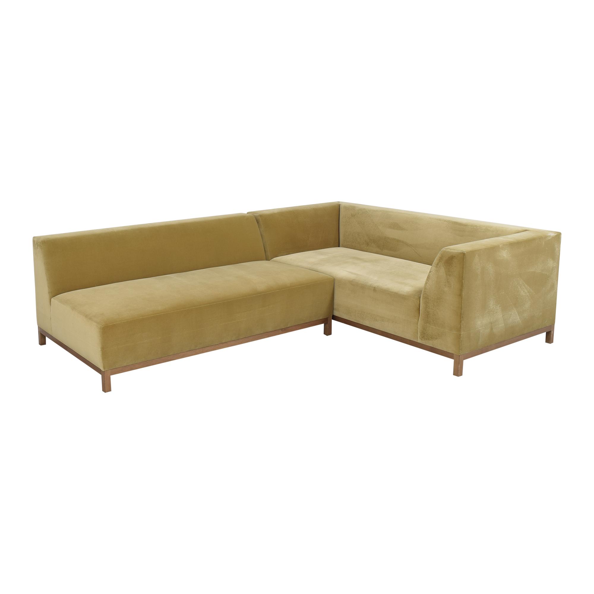shop ROOM Bruno Custom Reversible Sectional Sofa ROOM Sofas