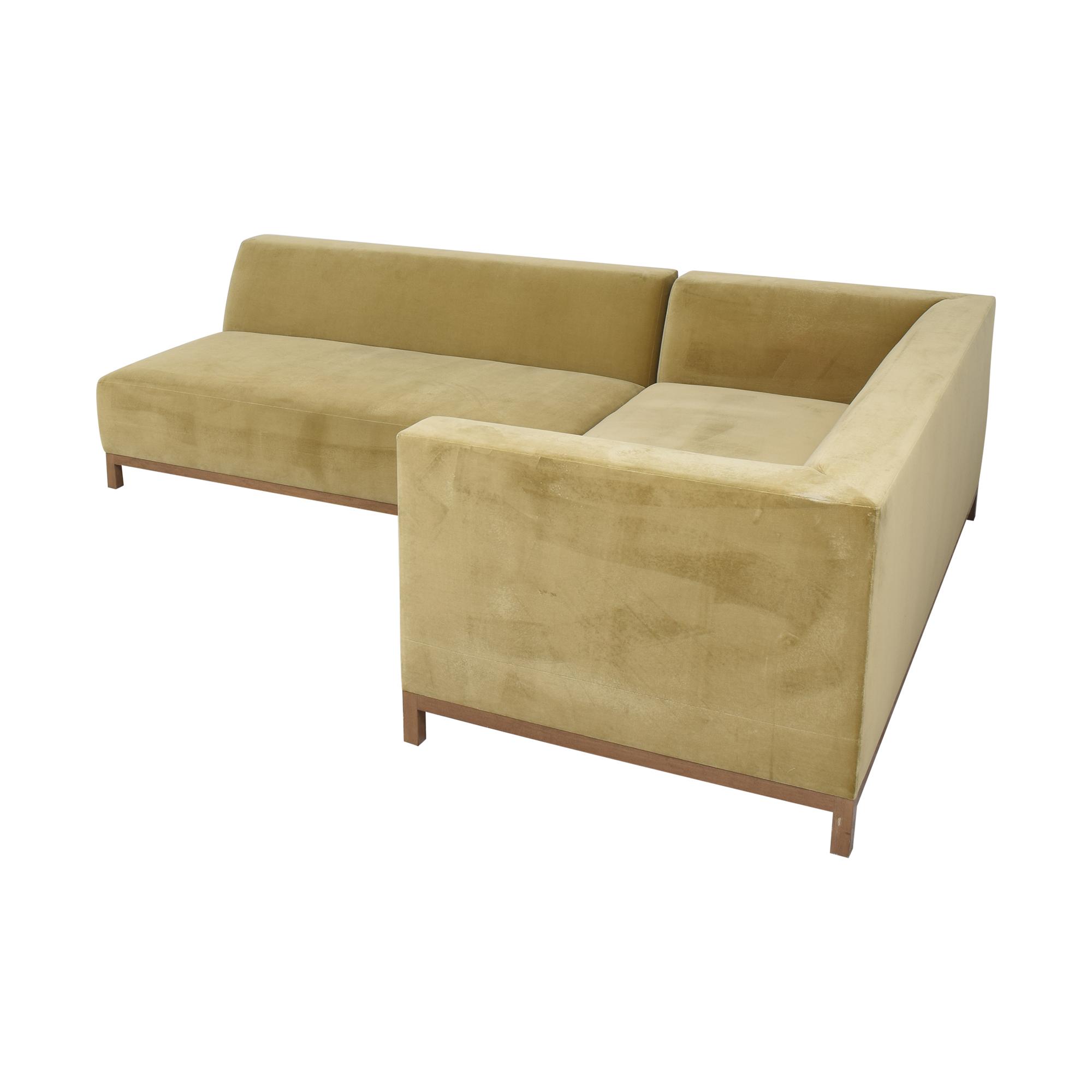 buy ROOM Bruno Custom Reversible Sectional Sofa ROOM Sectionals
