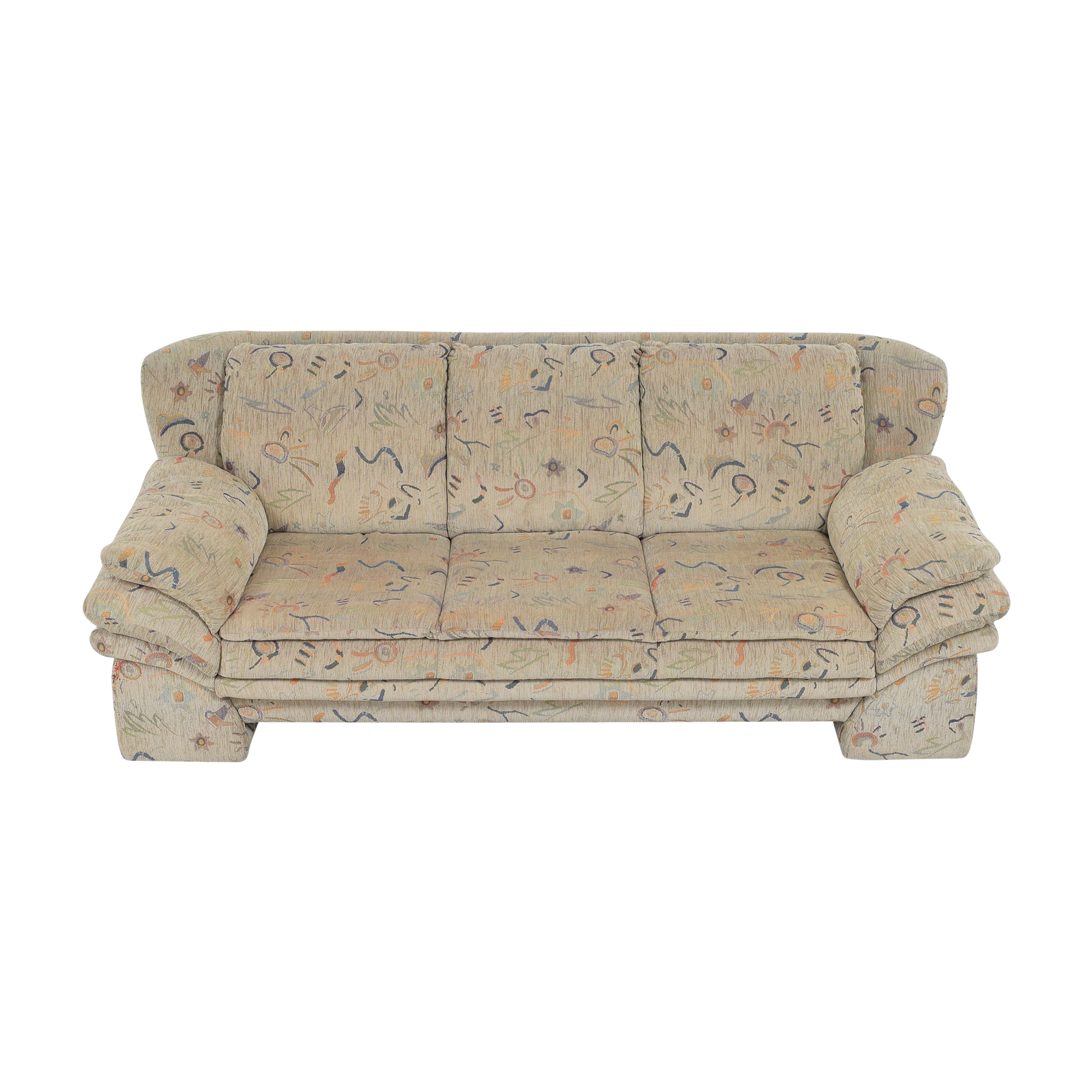 Patterned Three Cushion Sofa / Classic Sofas