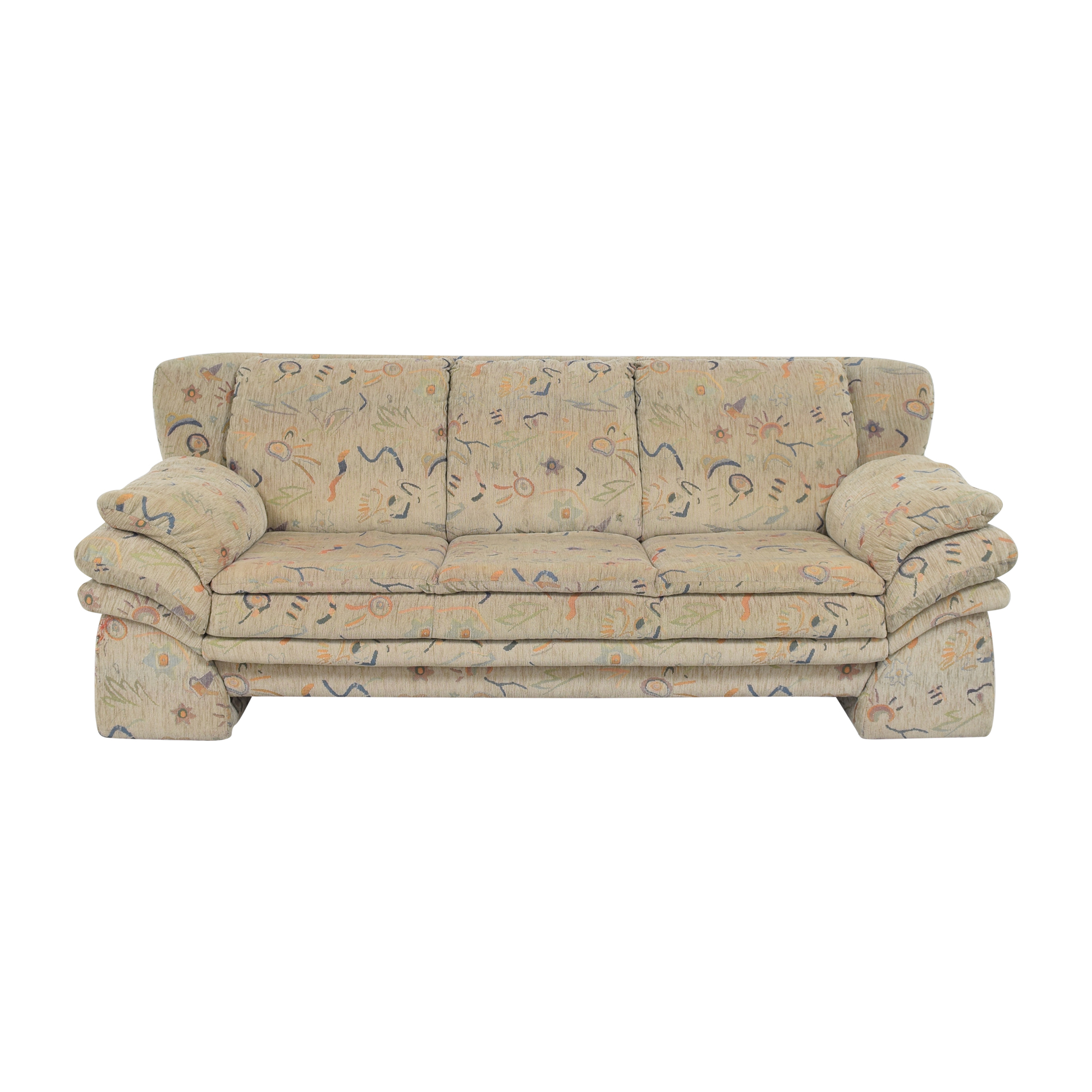 Patterned Three Cushion Sofa / Sofas